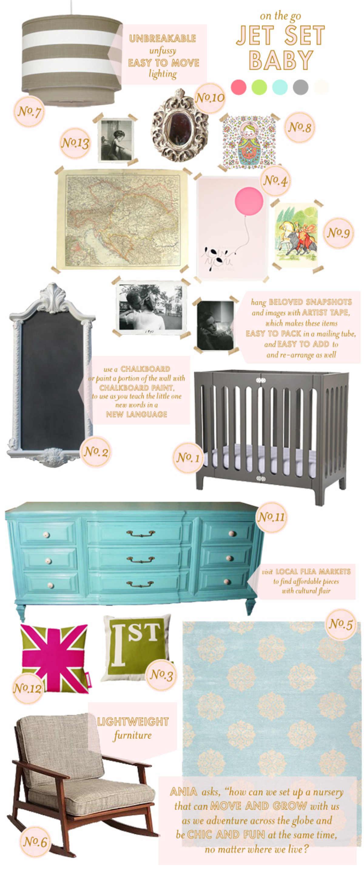 jet set baby nursery inspiration
