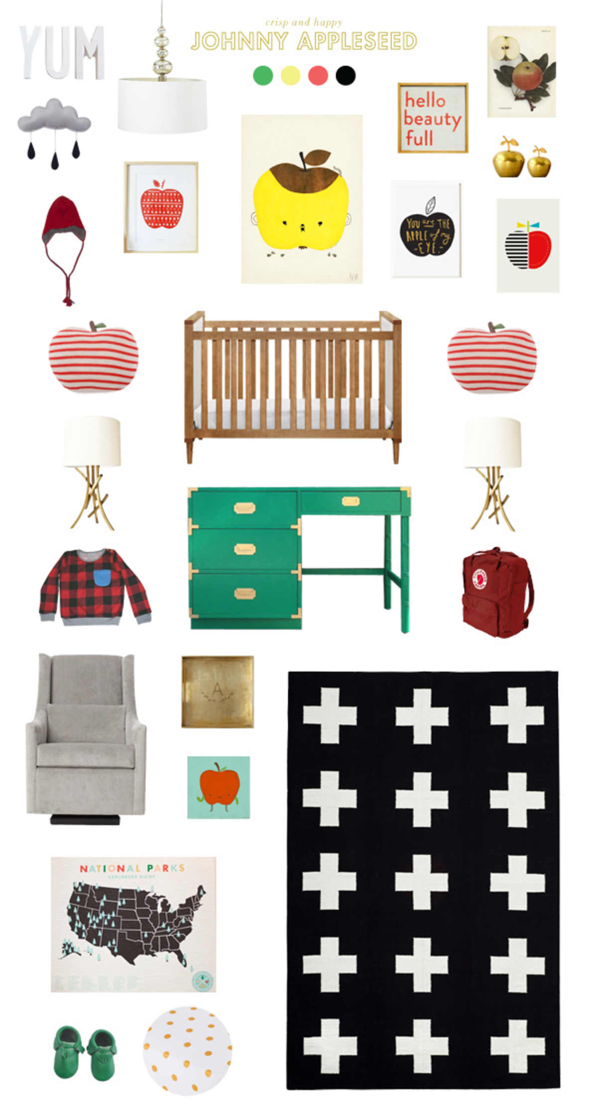 johnny appleseed baby room ideas