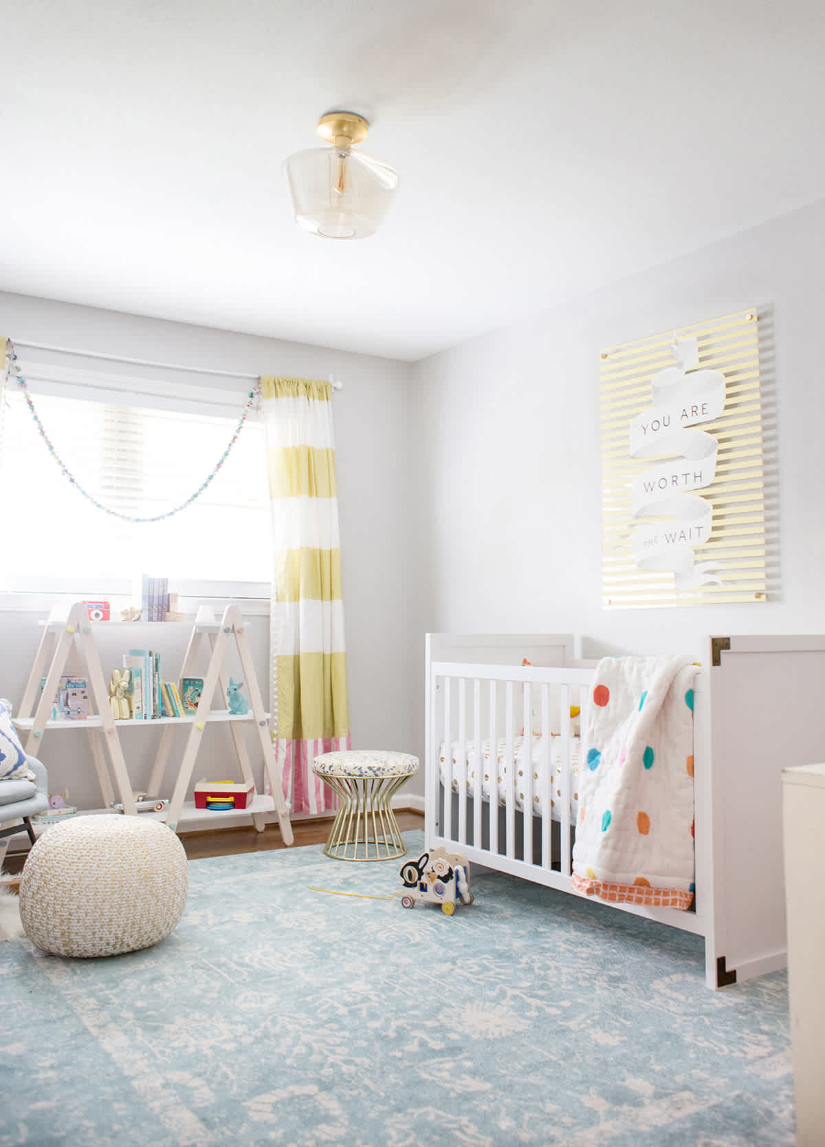 yellow and gray neutral nursery ideas lay baby lay. Black Bedroom Furniture Sets. Home Design Ideas