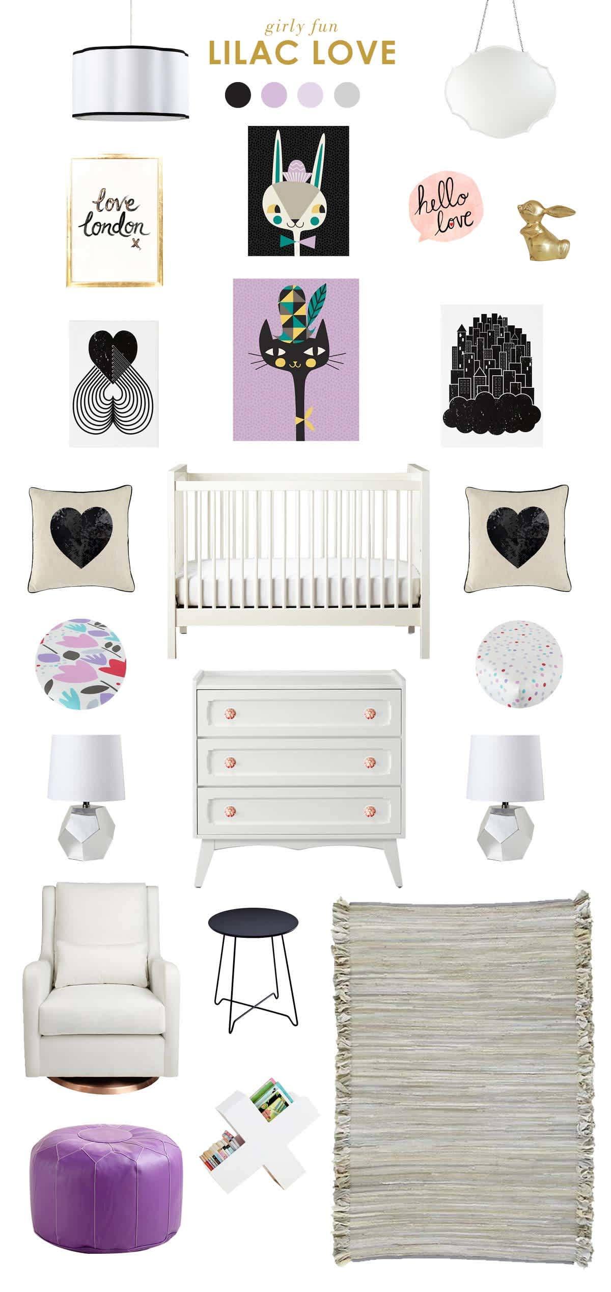 purple baby room ideas