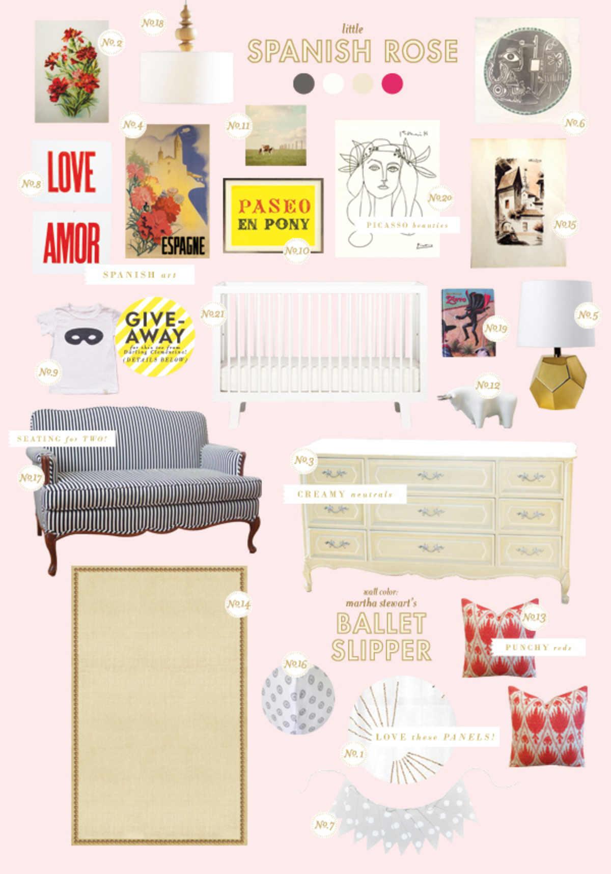 little spanish rose baby room ideas