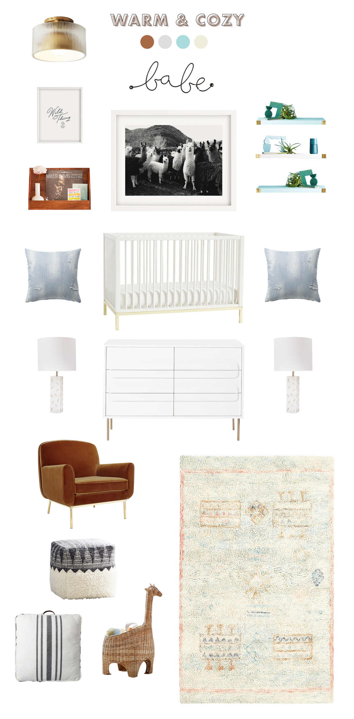 neutral and cozy baby room ideas