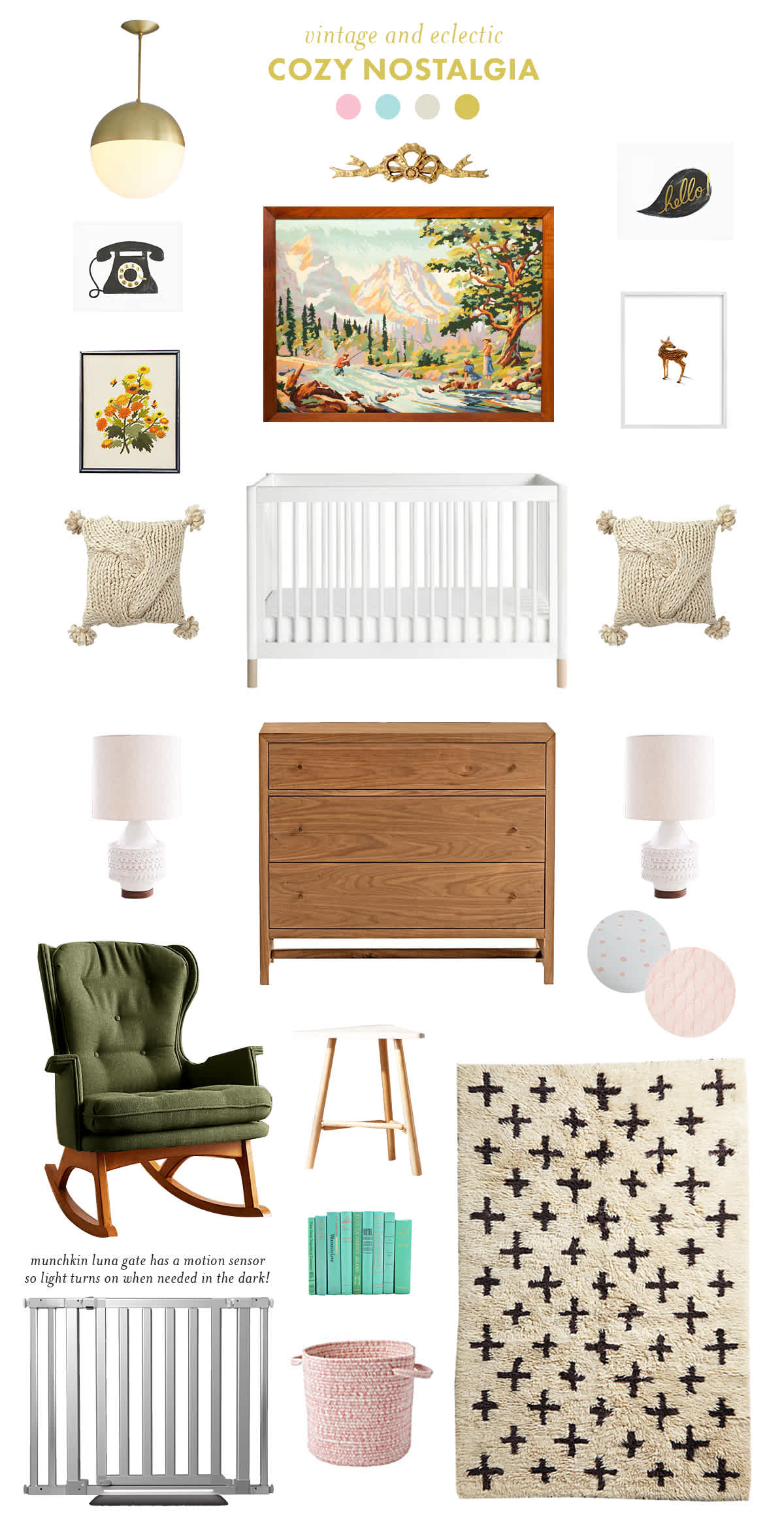 vintage eclectic baby room