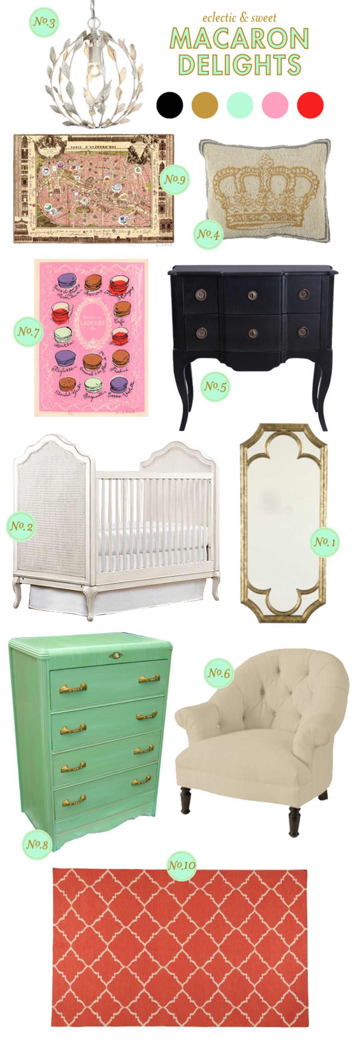 girl nursery inspiration board