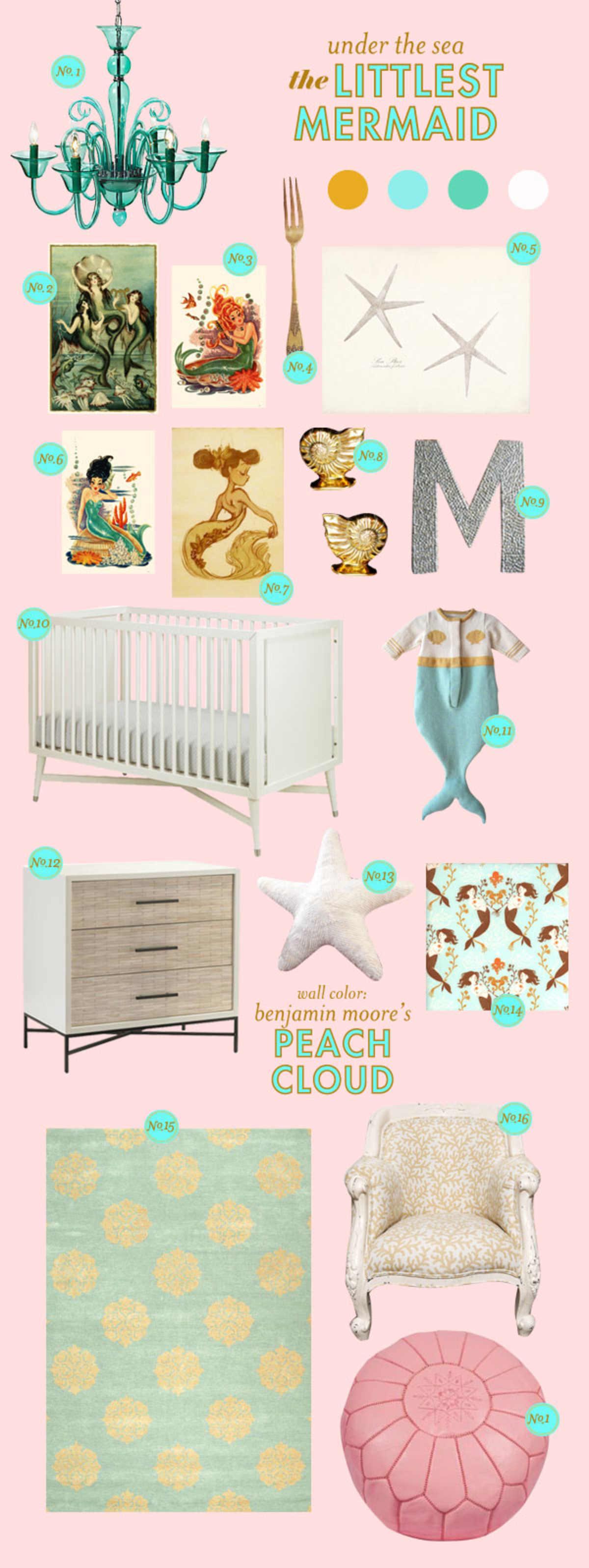 mermaid baby room ideas