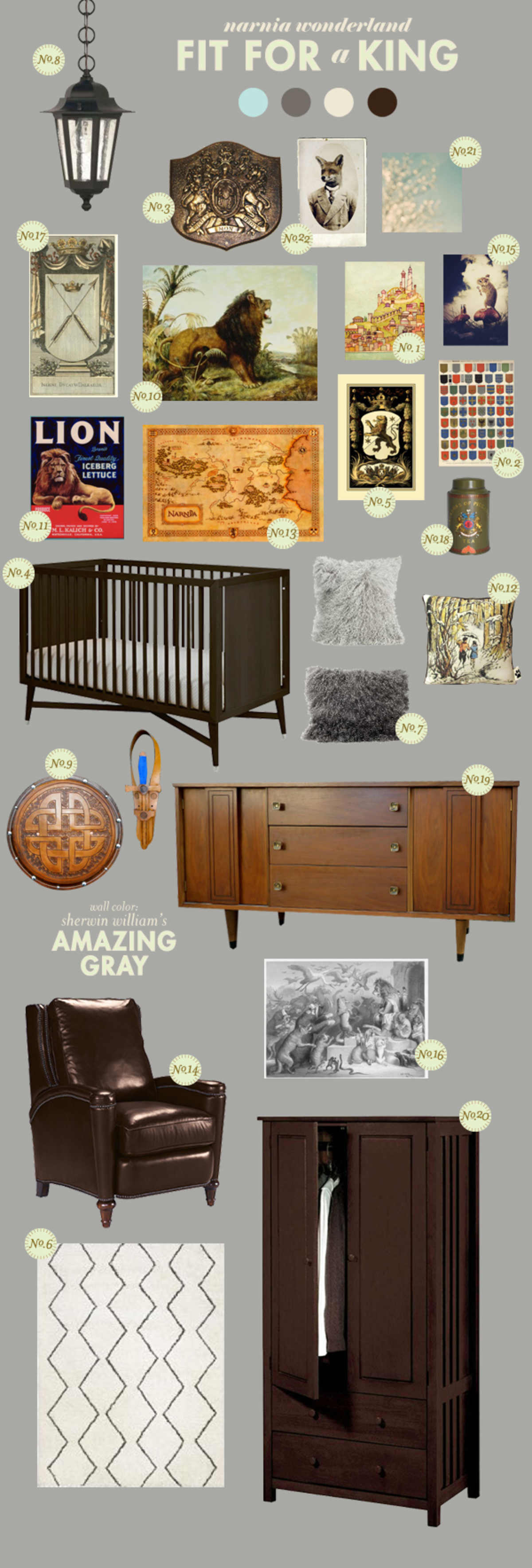 lion the witch and the wardrobe baby room ideas