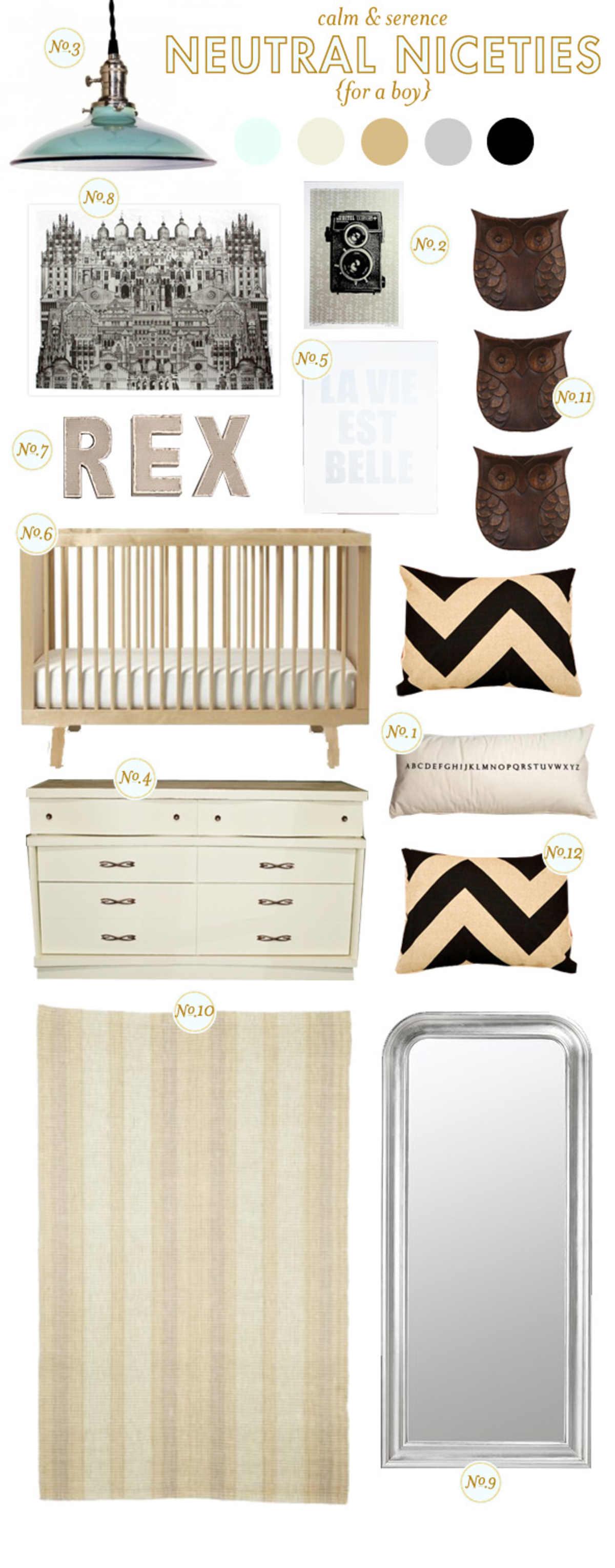 neutral nursery inspiration board