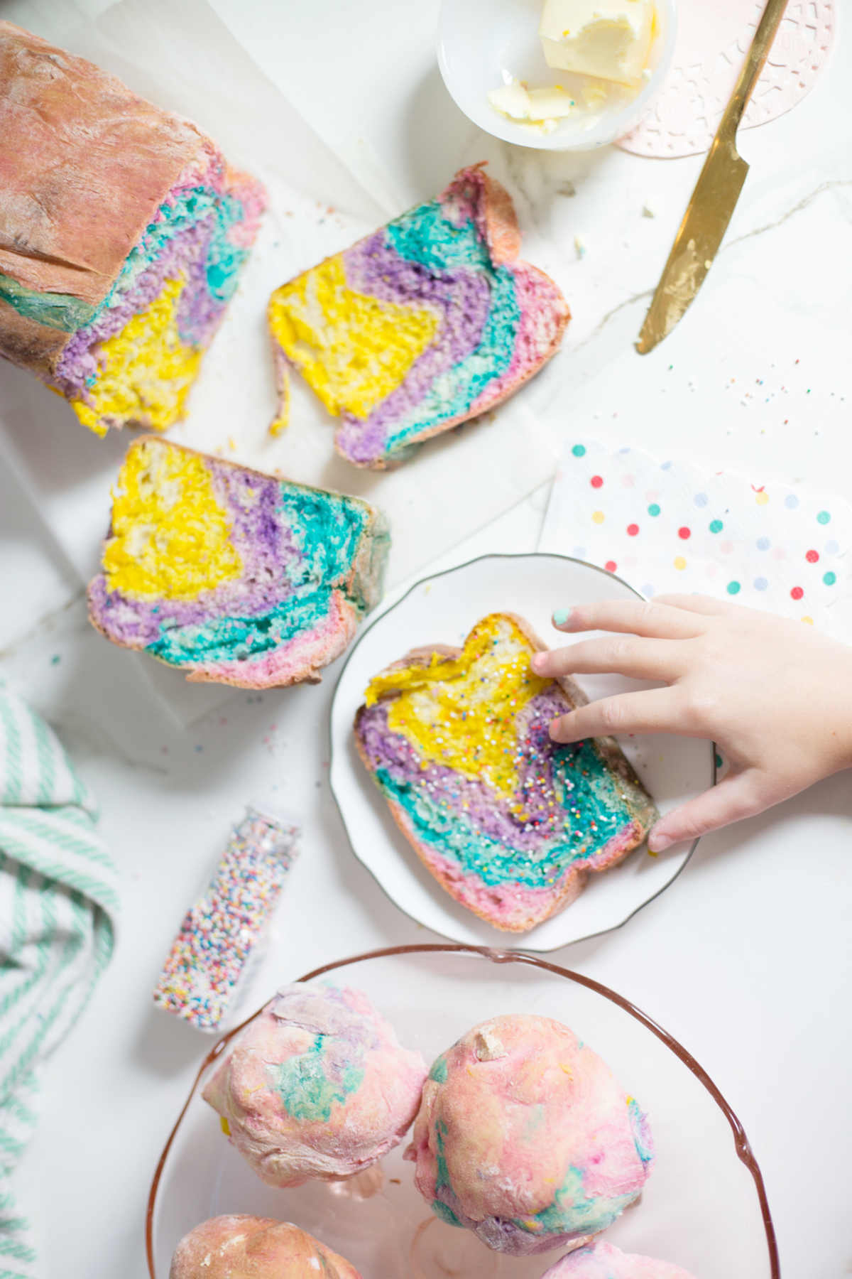 how to make rainbow bread