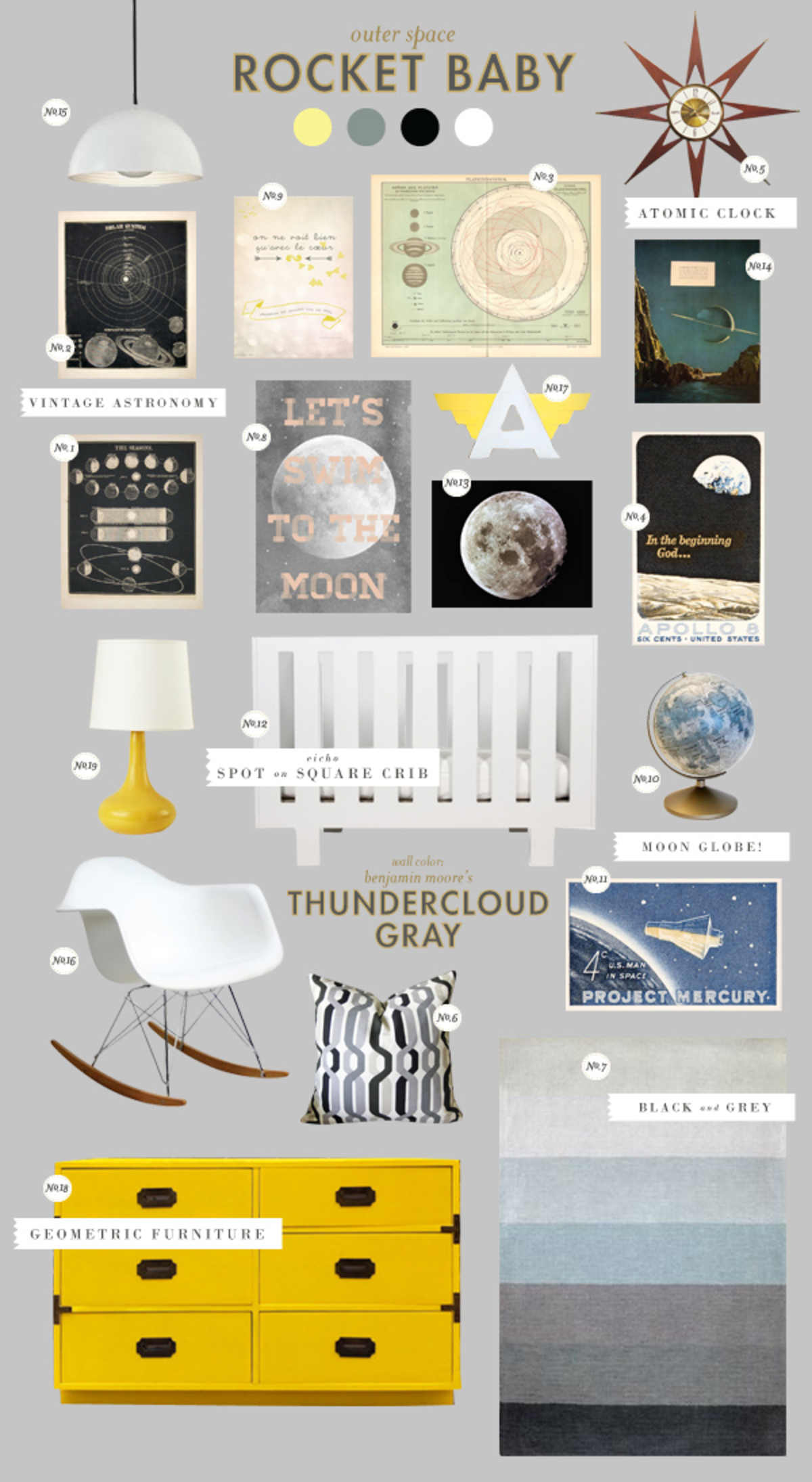 outer space rocket baby room ideas