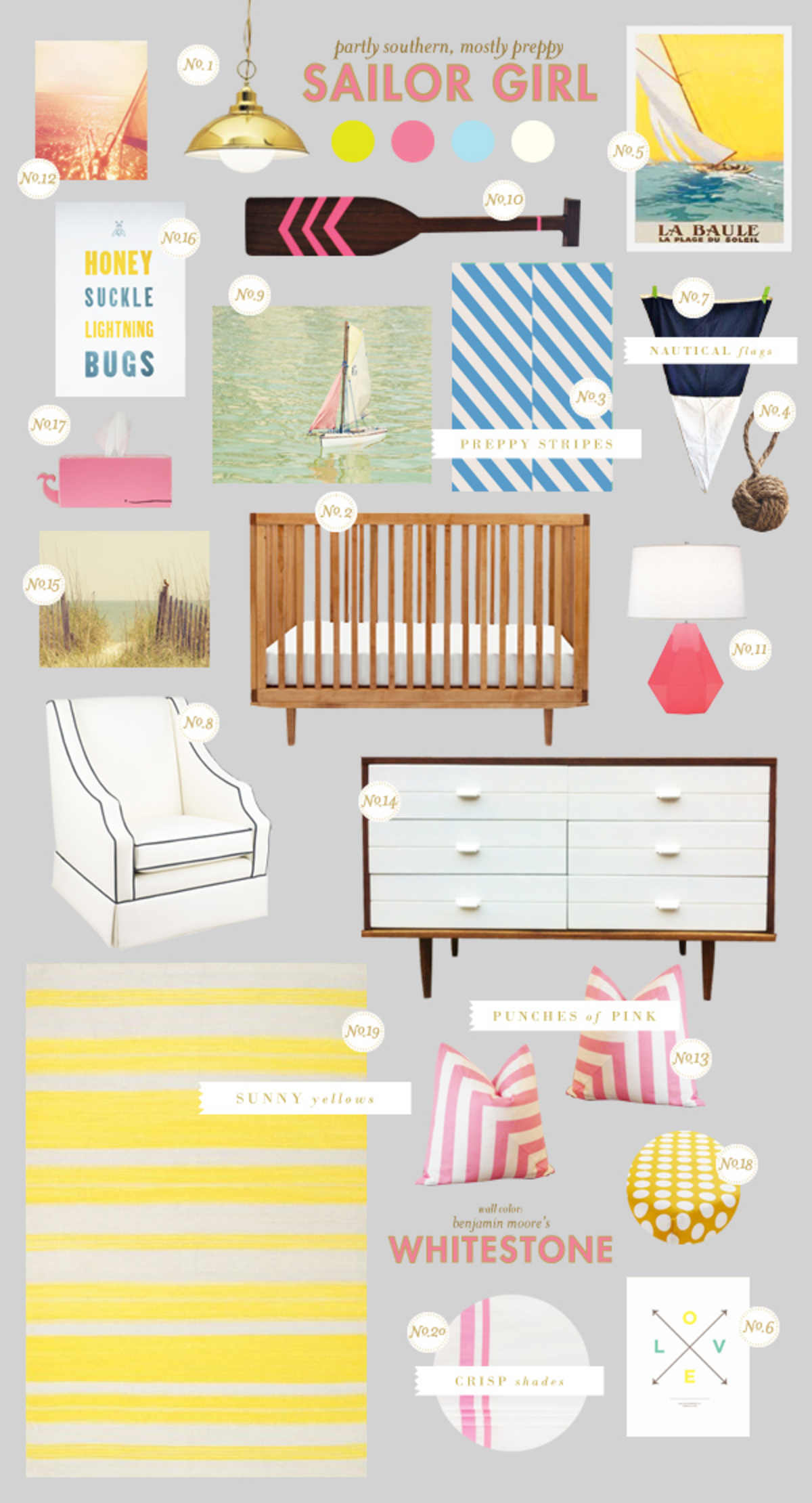 nautical baby girl room ideas