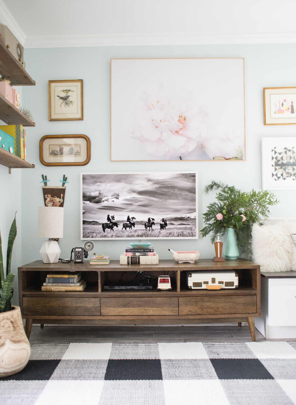 How To Design Around The TV In Your Living Room - Lay Baby Lay
