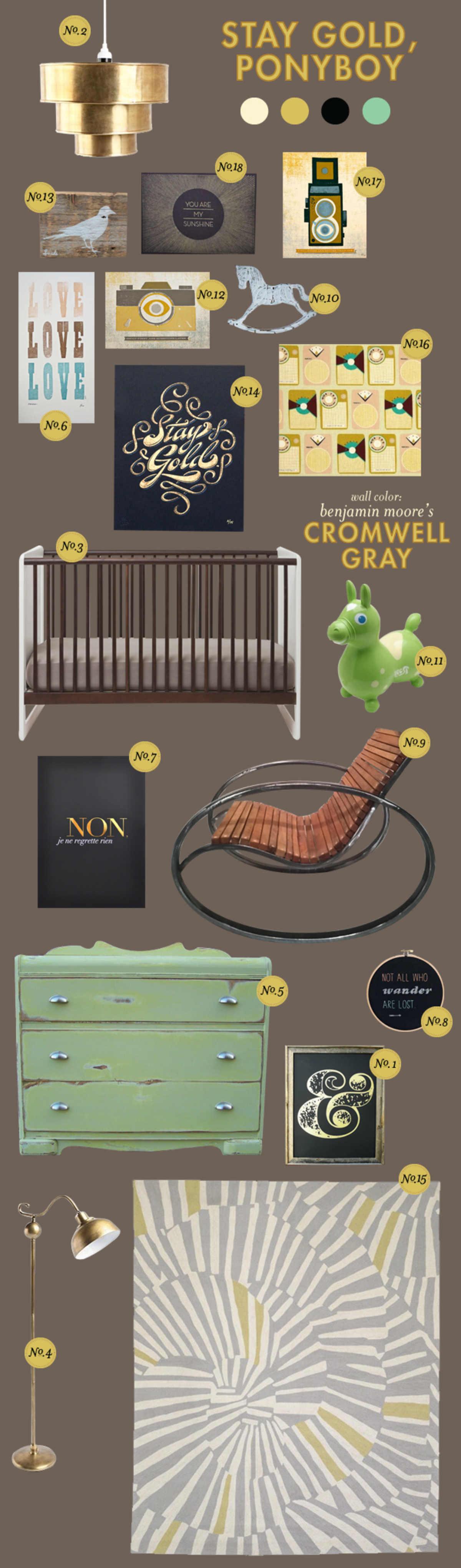 gold rustic baby boy room ideas