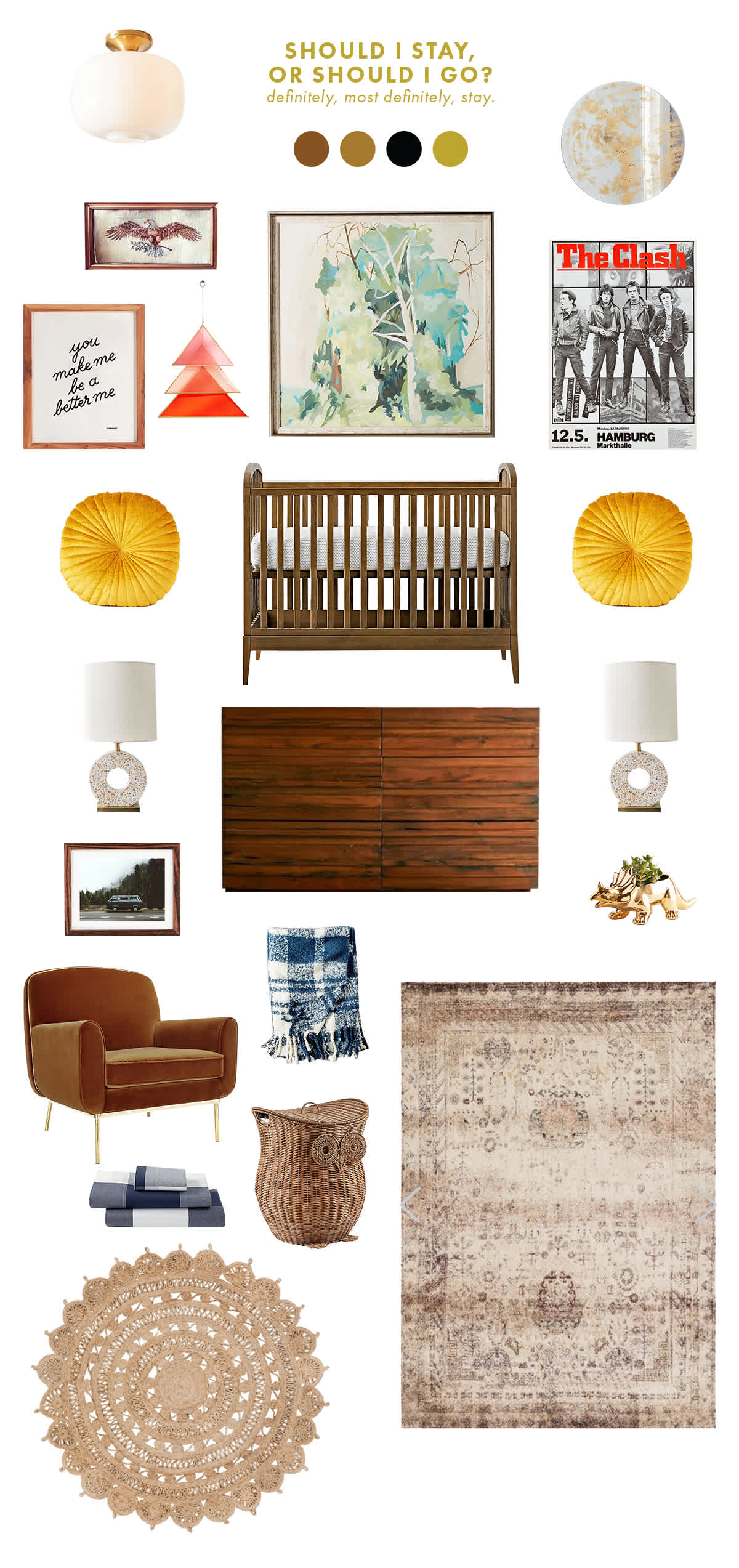 vintage inspired baby room