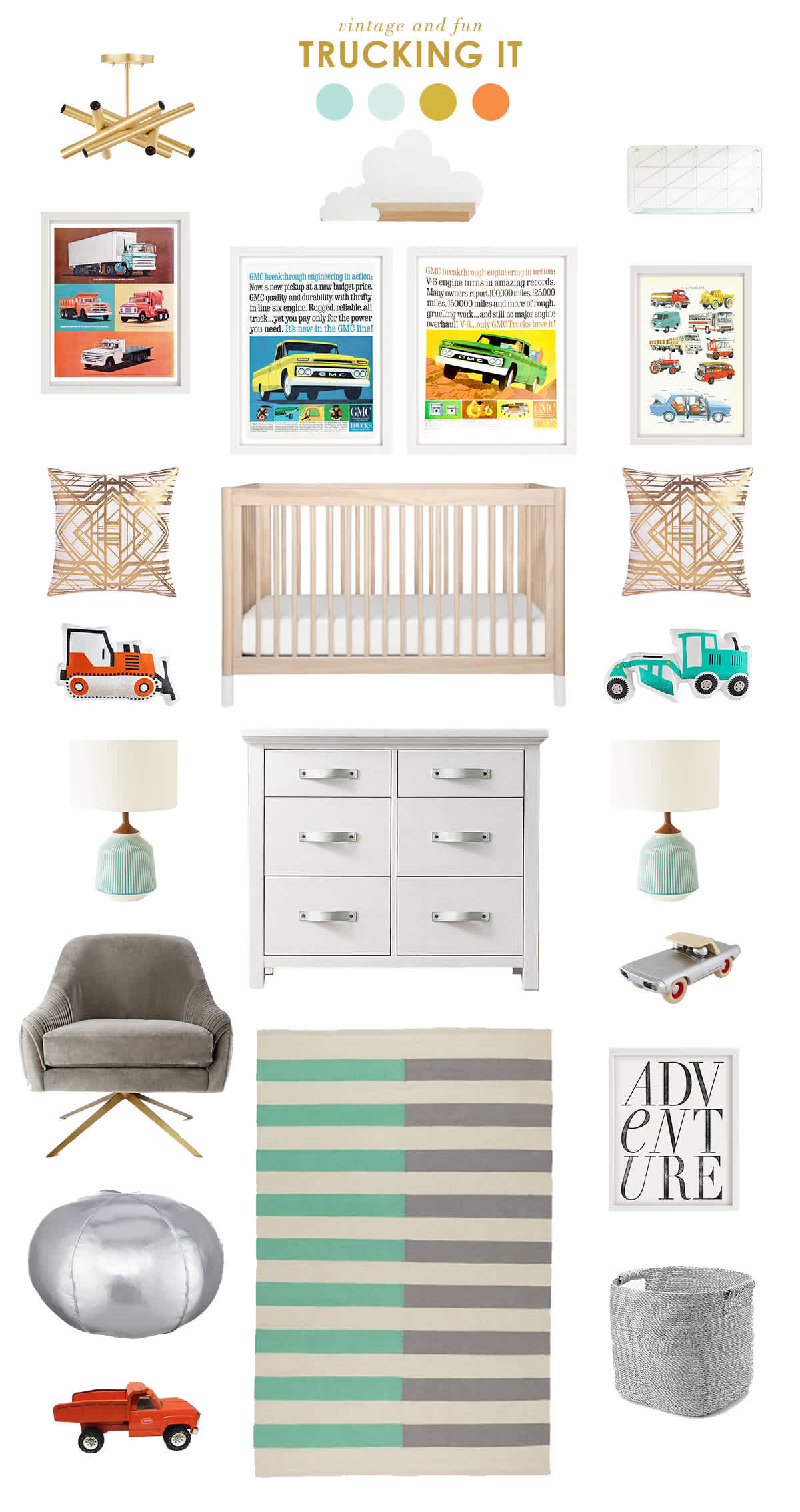 trucks and cars nursery inspiration