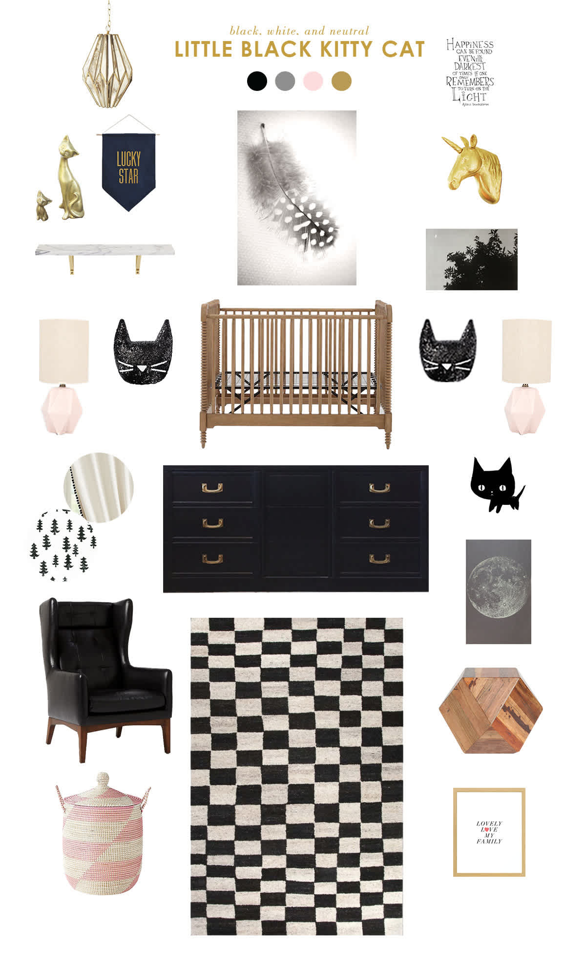 black and white baby nursery inspiration