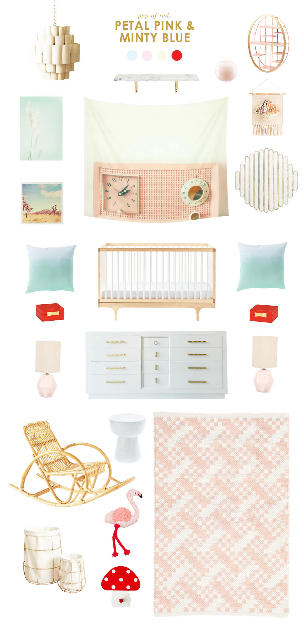 Petal Pink Minty Blue Nursery Ideas Lay Baby Lay