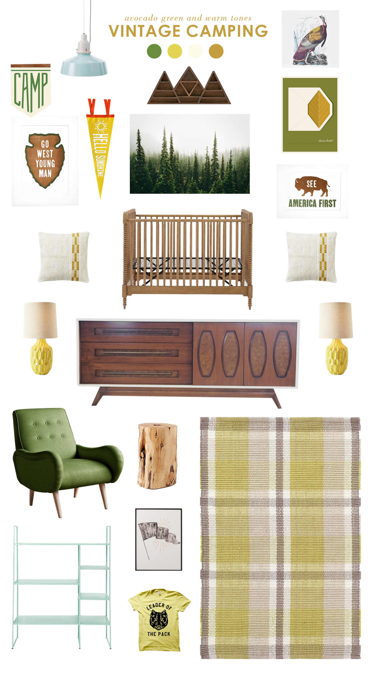 vintage camping baby room ideas