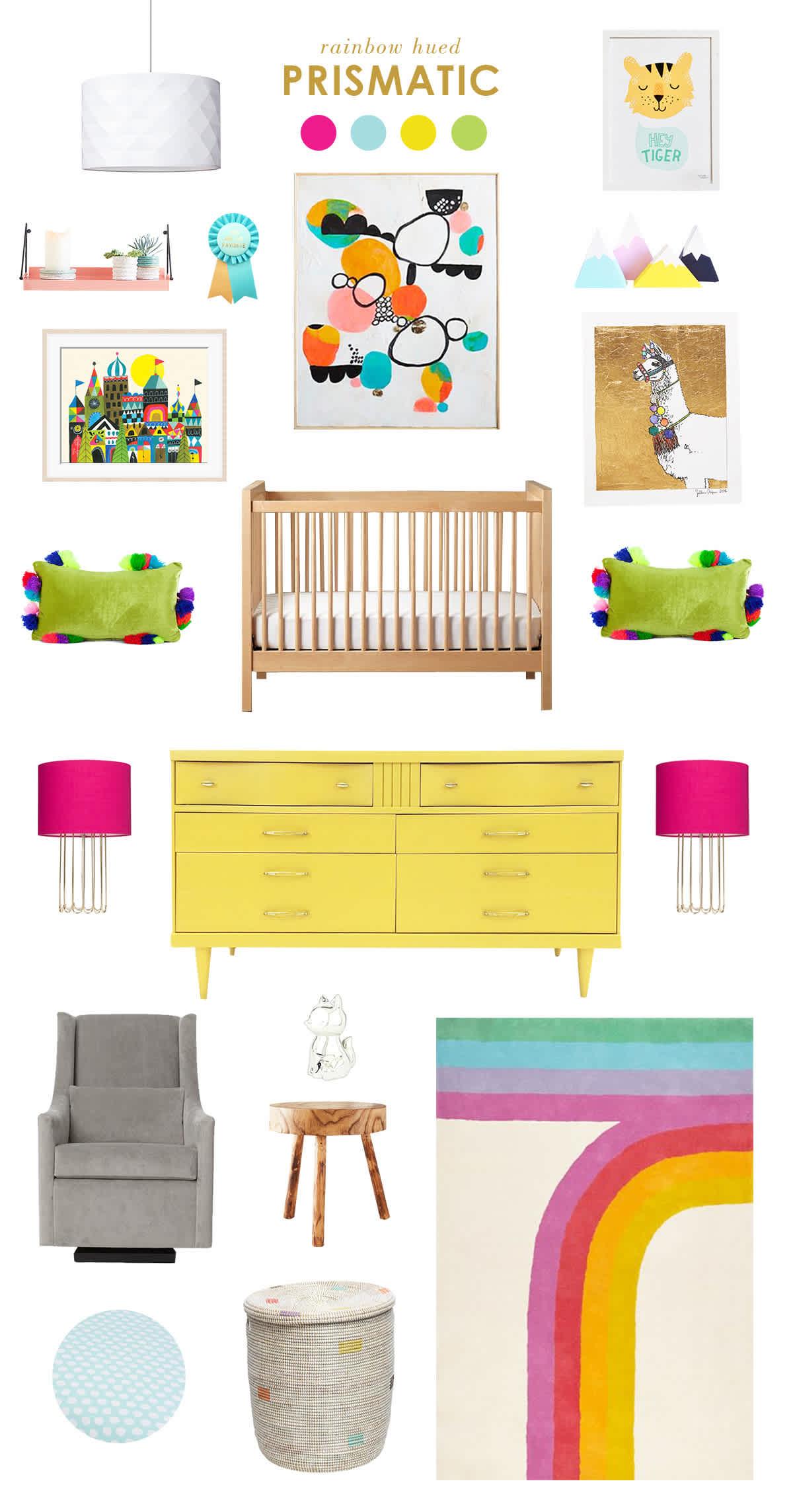 rainbow baby room ideas