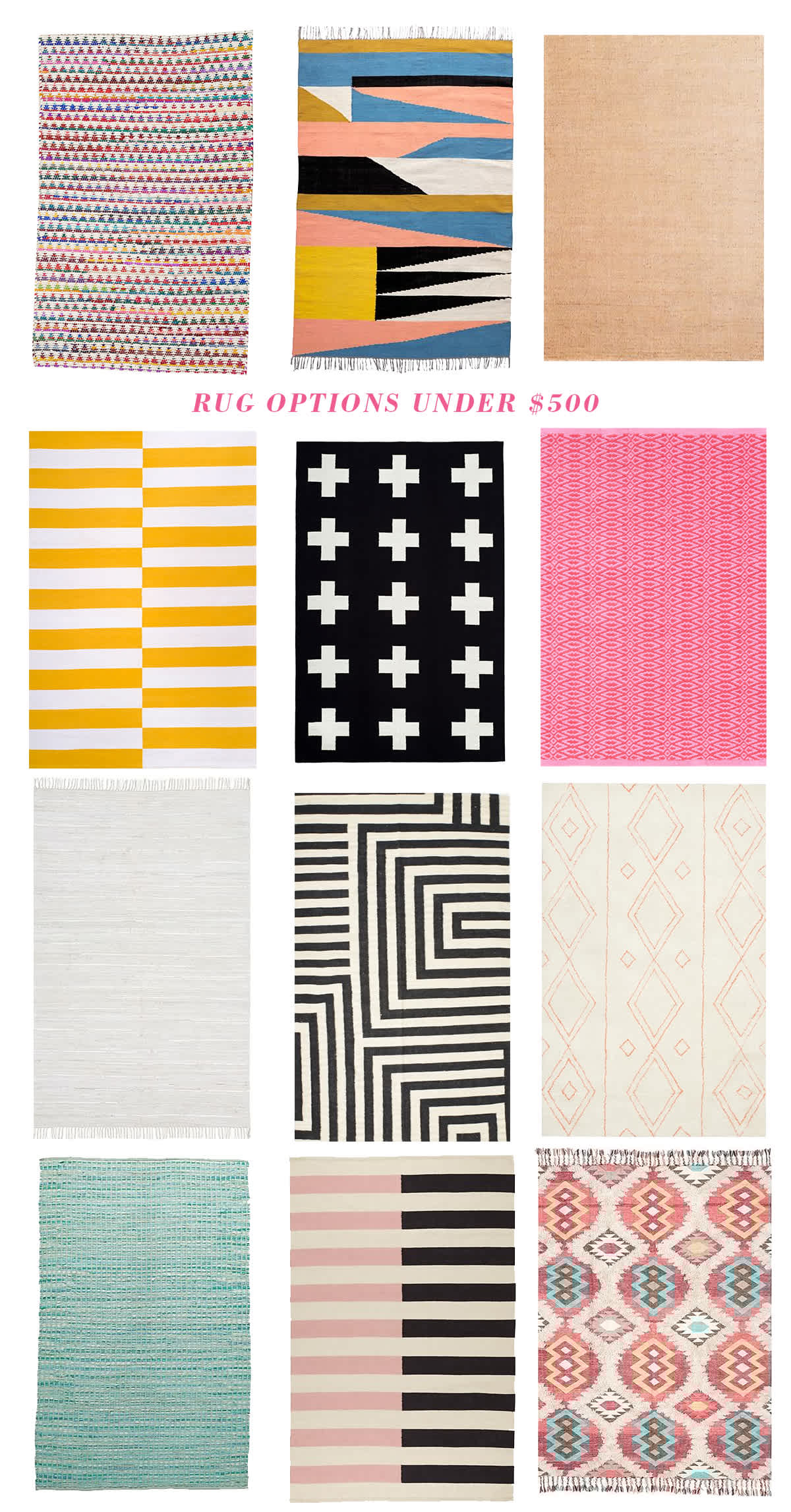 baby room rugs under $500
