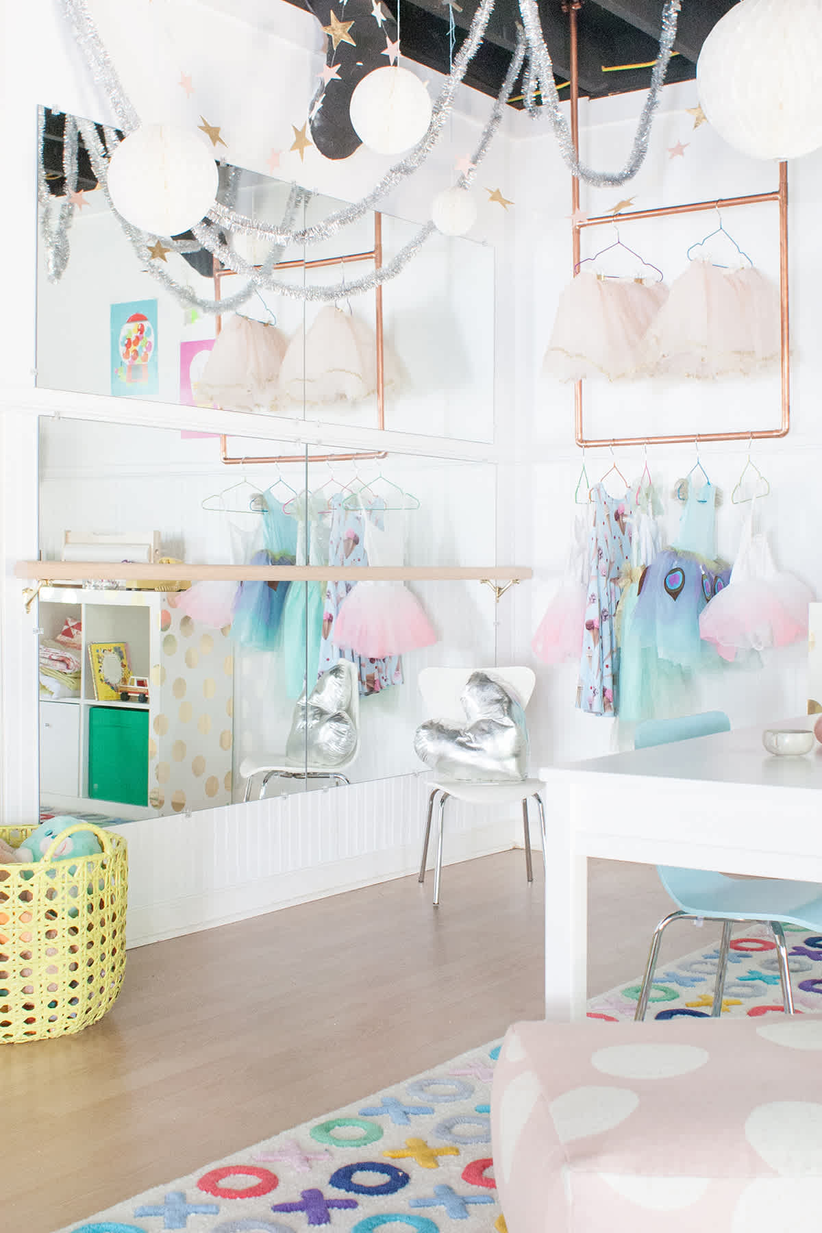 how to make a playroom ballet studio