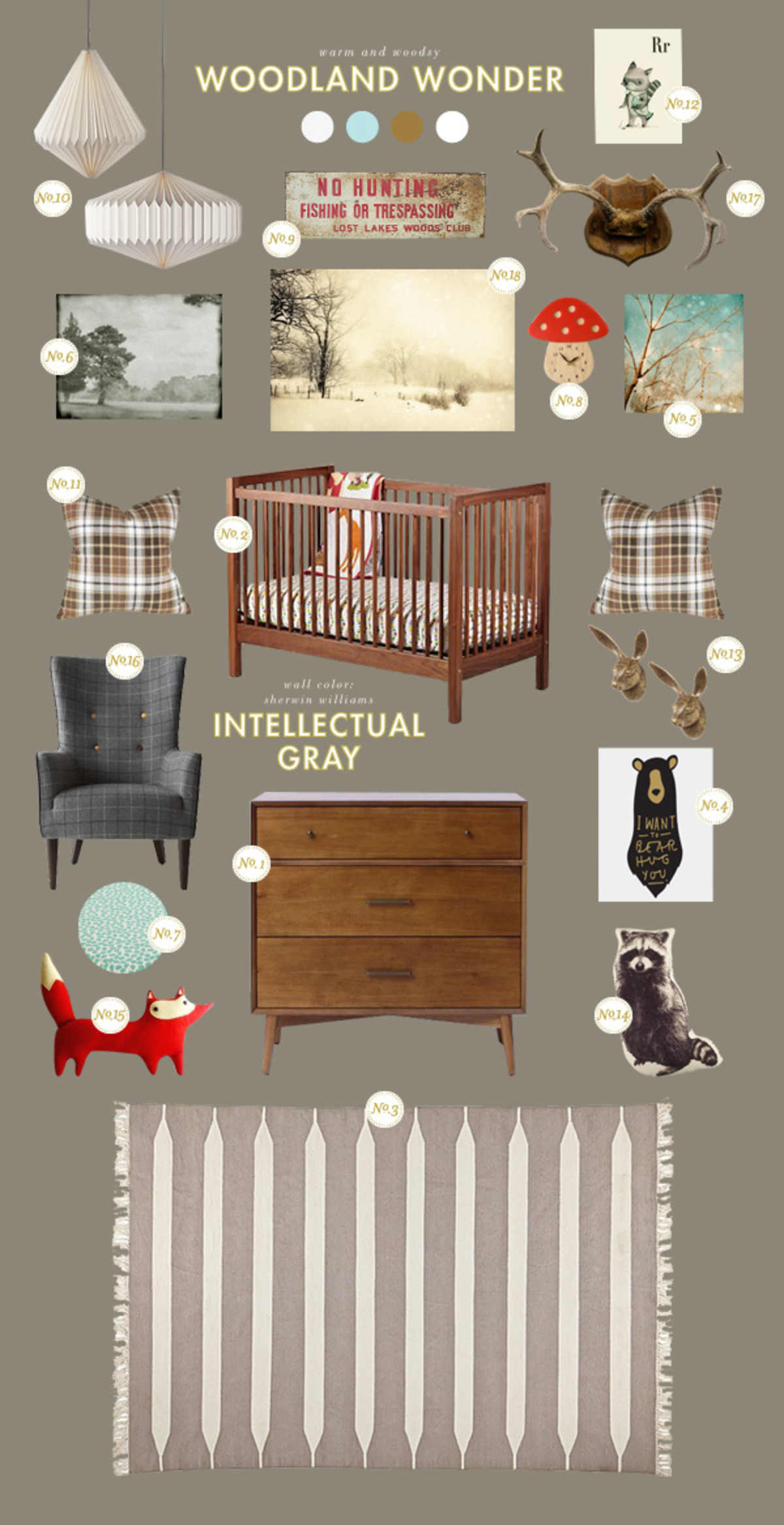 woodland baby room ideas