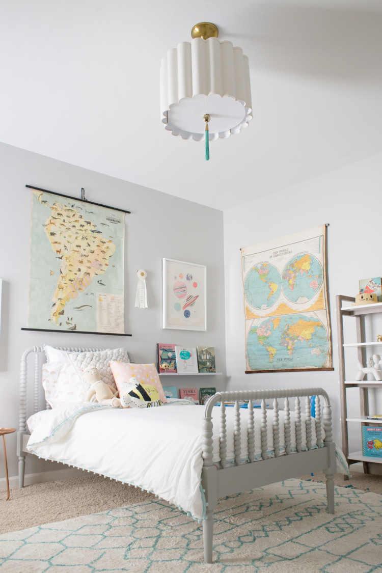 A Travel Inspired Big Girl Room - Lay Baby Lay