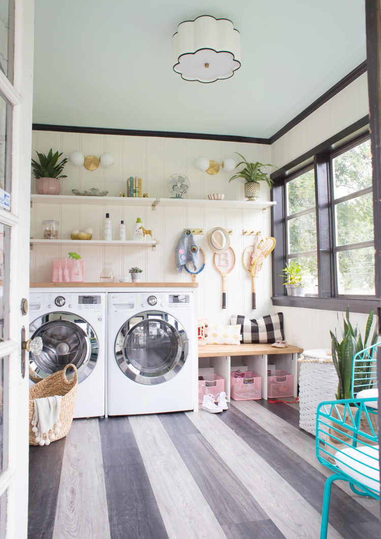 Laundry And Mudroom Renovation With New Flooring Lay Baby Lay