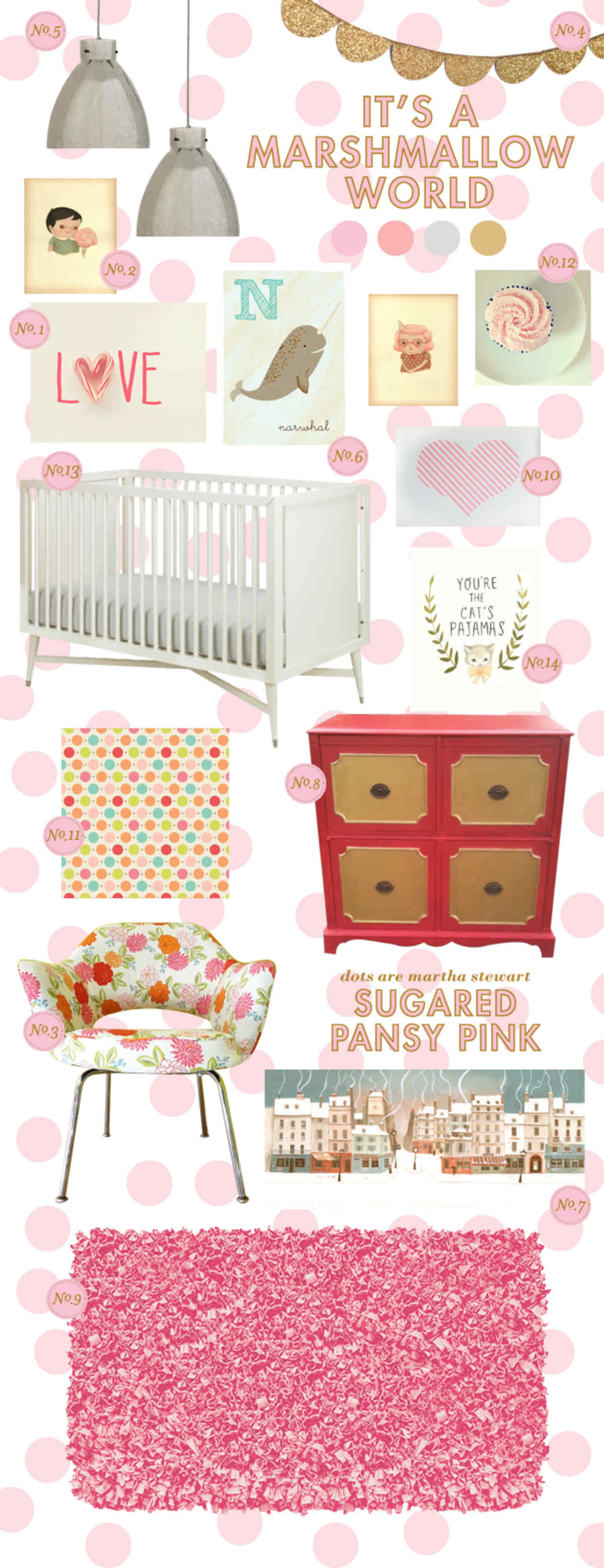 baby girl candy baby room ideas