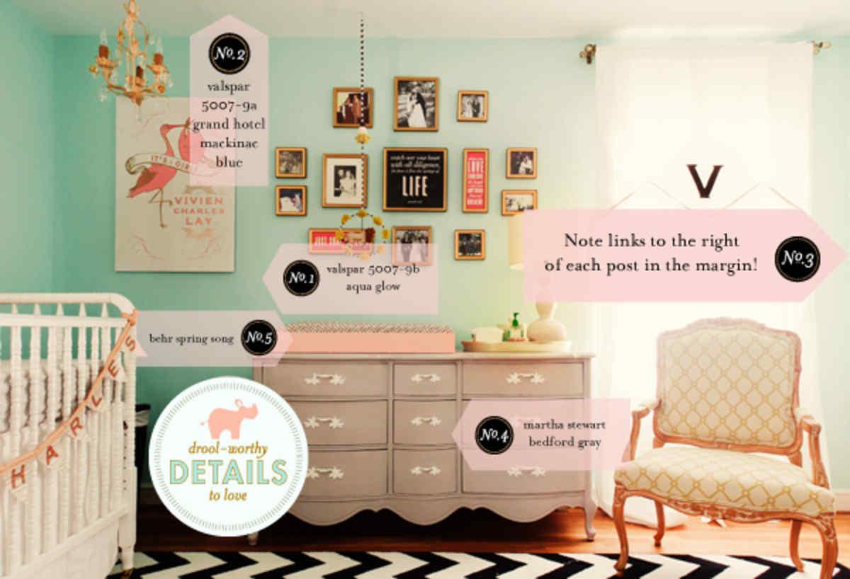 Nursery Inspiration; Baby Girl Nursery Inspiration