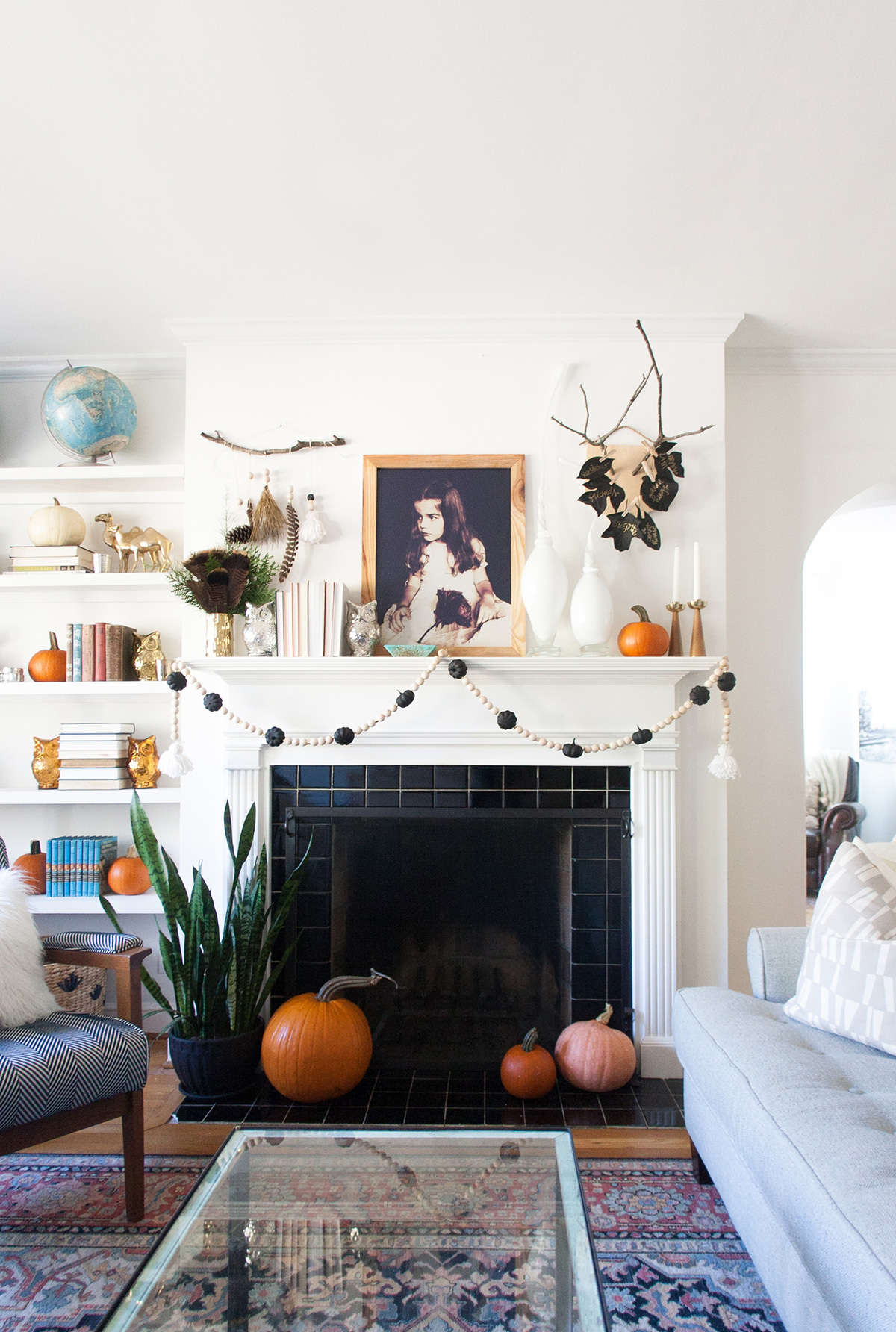 autumn mantel decor with home depot – Fall Mantel Decorations