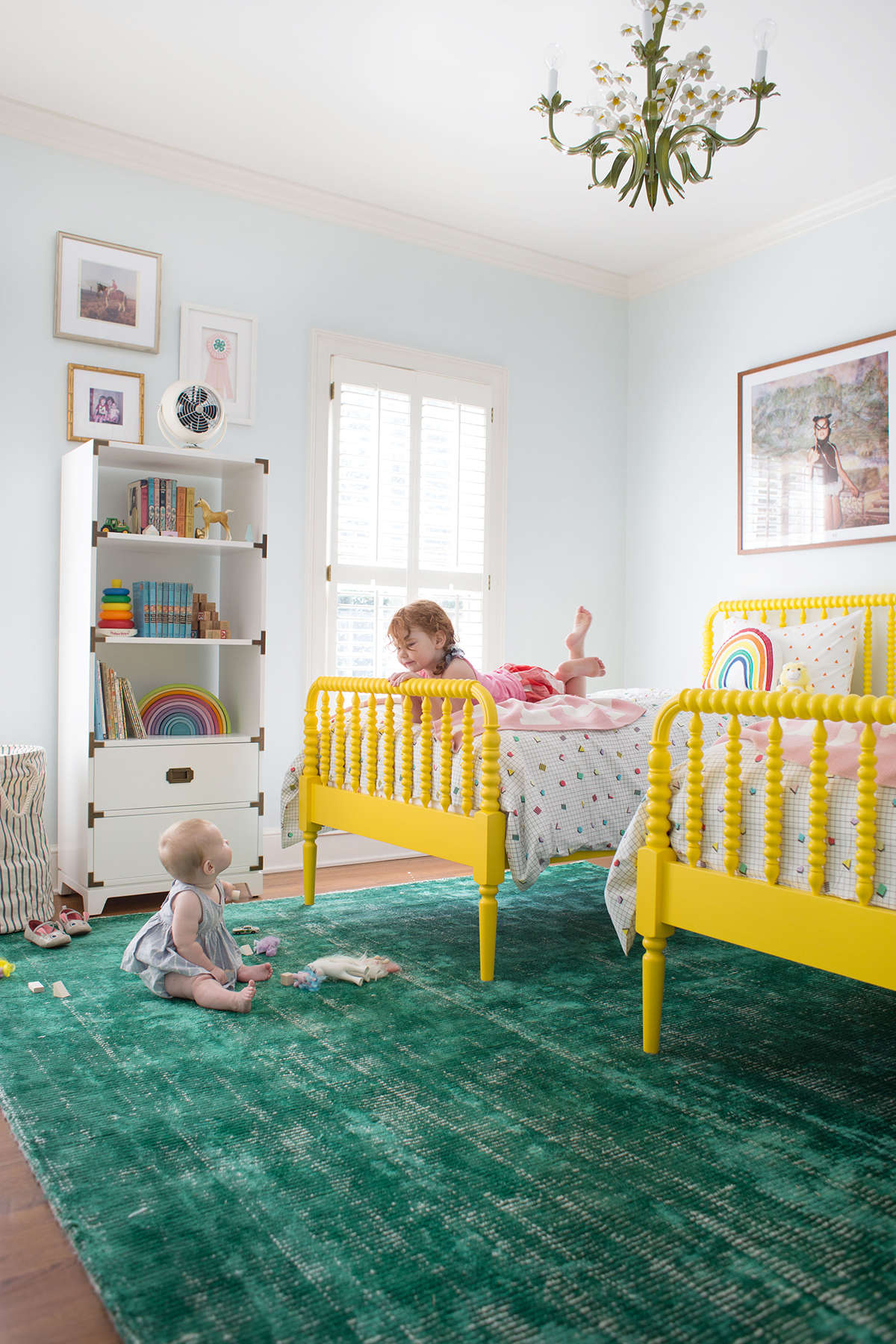 neutral shared kids' room