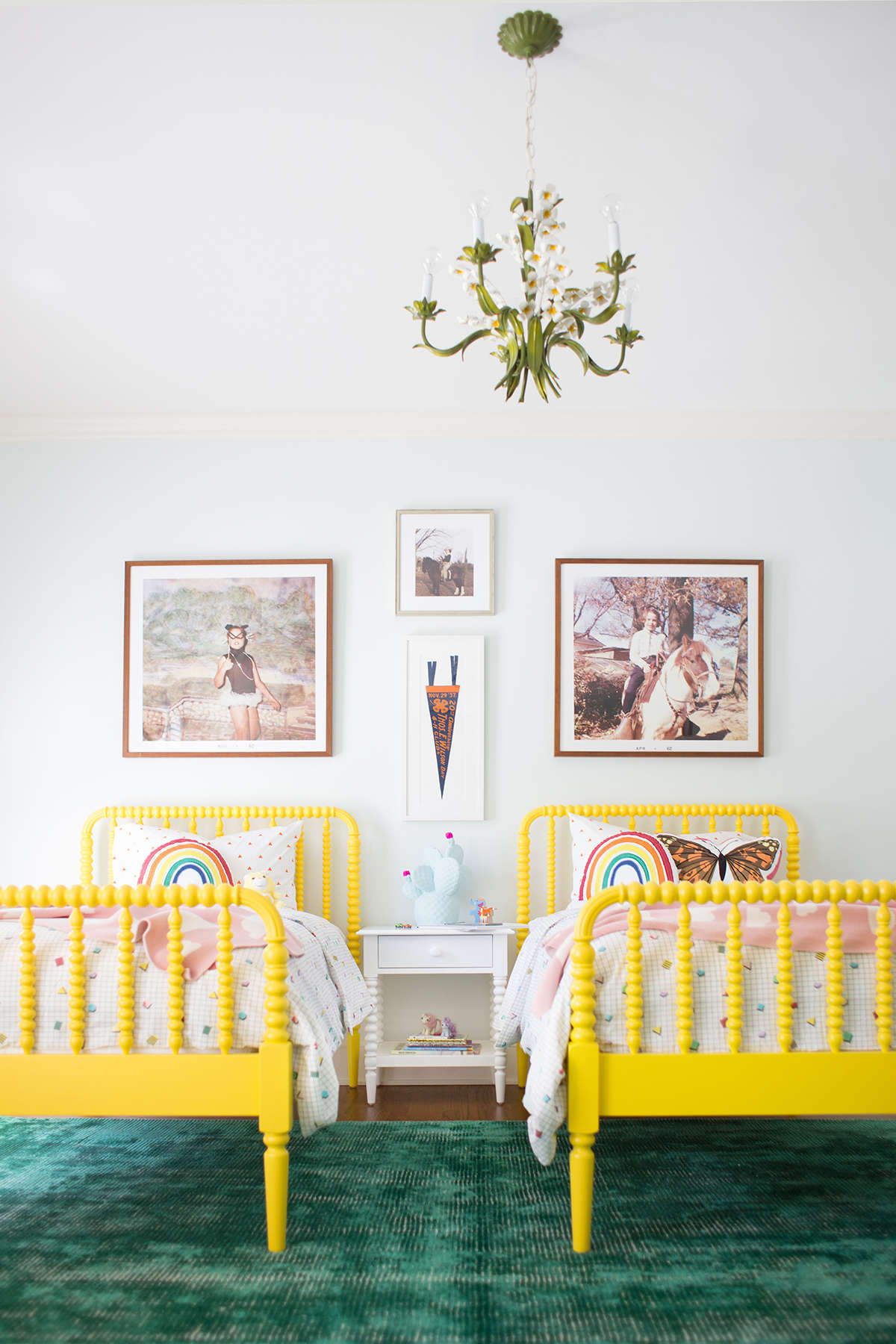 neutral shared kid room inspiration