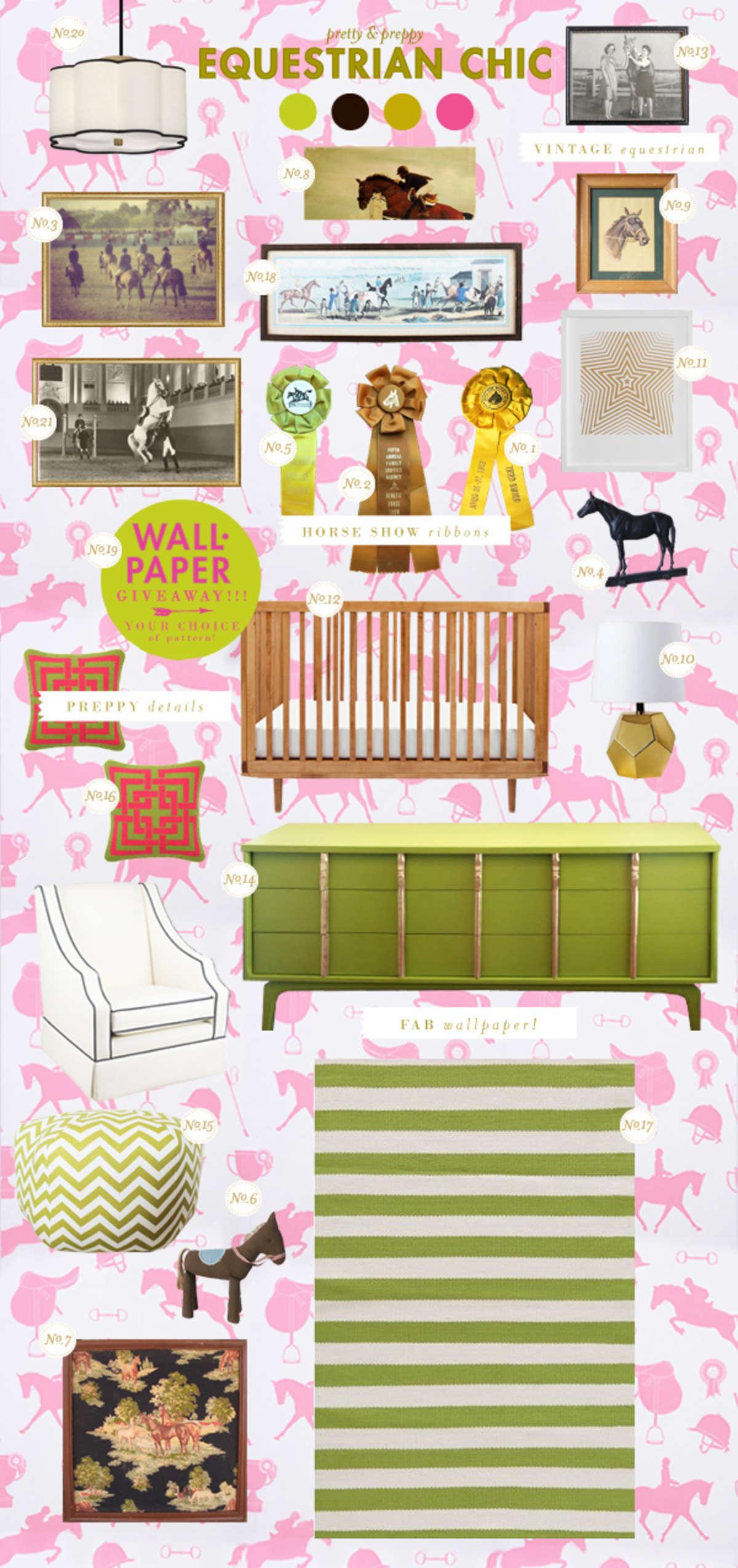 horses baby girl room ideas