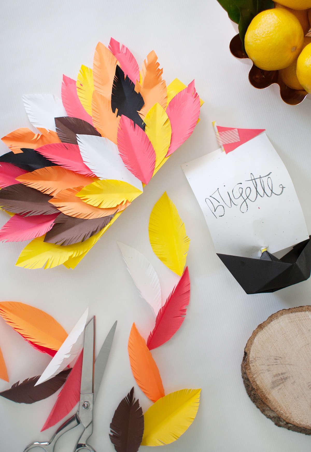 Diy thanksgiving paper decor - Thanksgiving Decor Ideas
