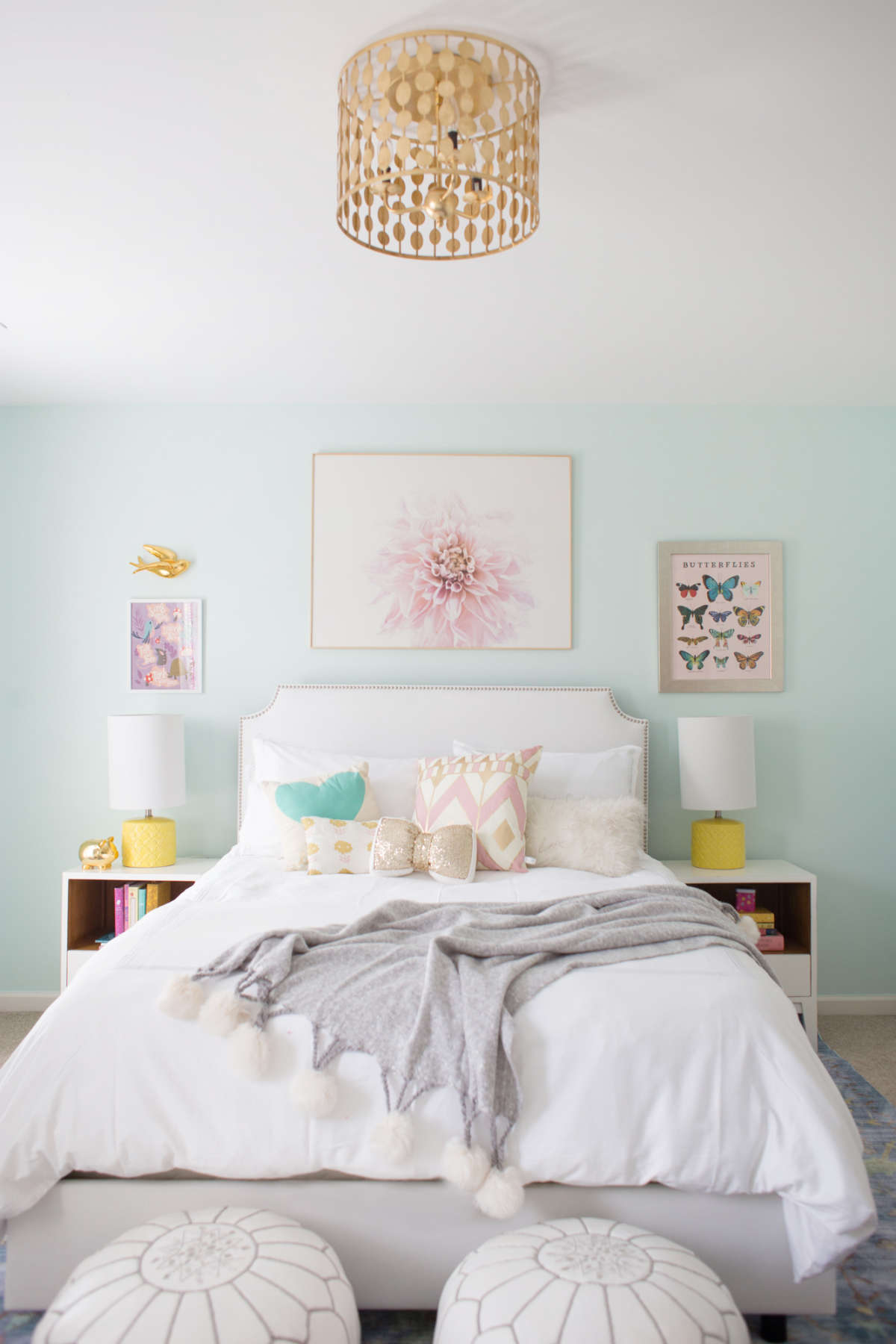 Blue And Yellow Little Girl Room Lay Baby Lay Lay Baby Lay