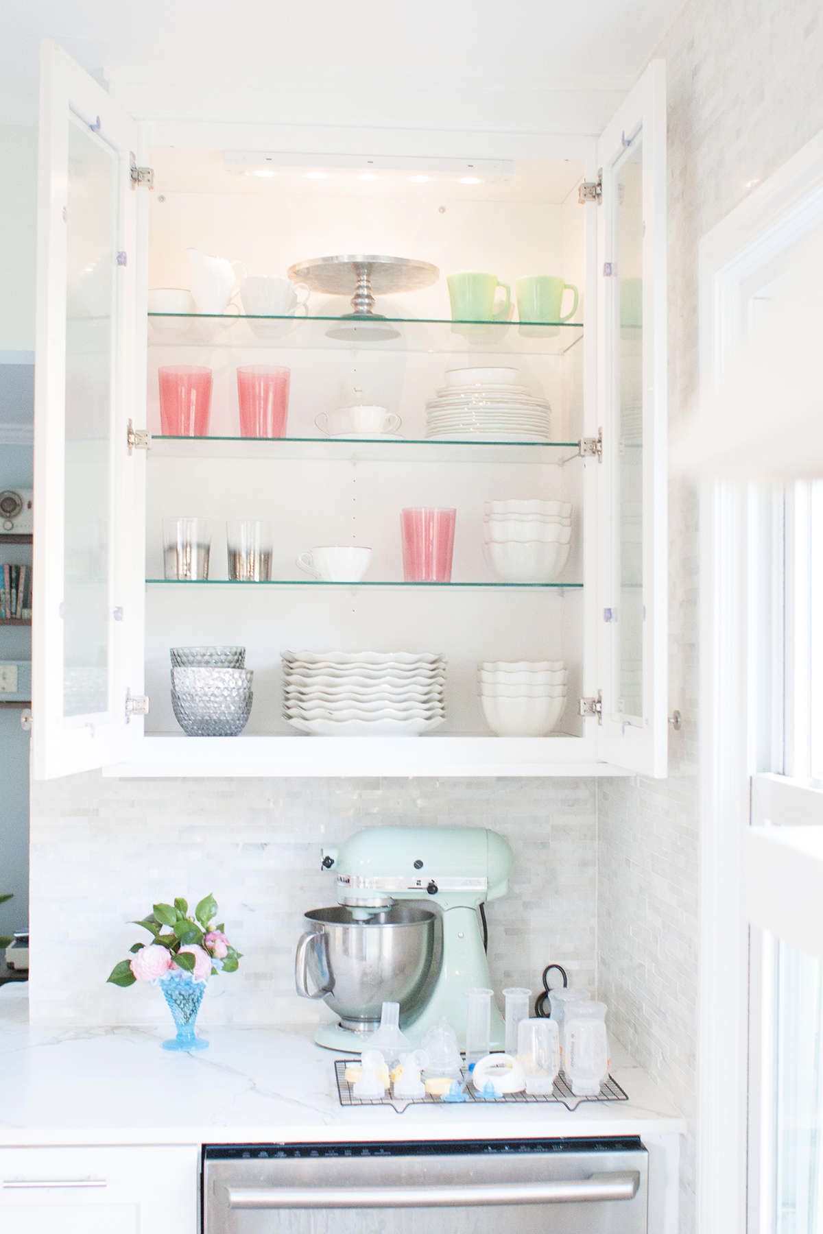 Open Shelving In Kitchen How To Organize Open Shelving In A Kitchen Lay Baby Lay