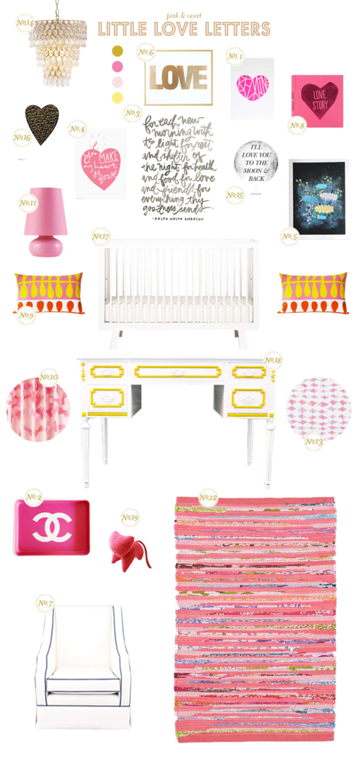 pink and yellow baby room ideas