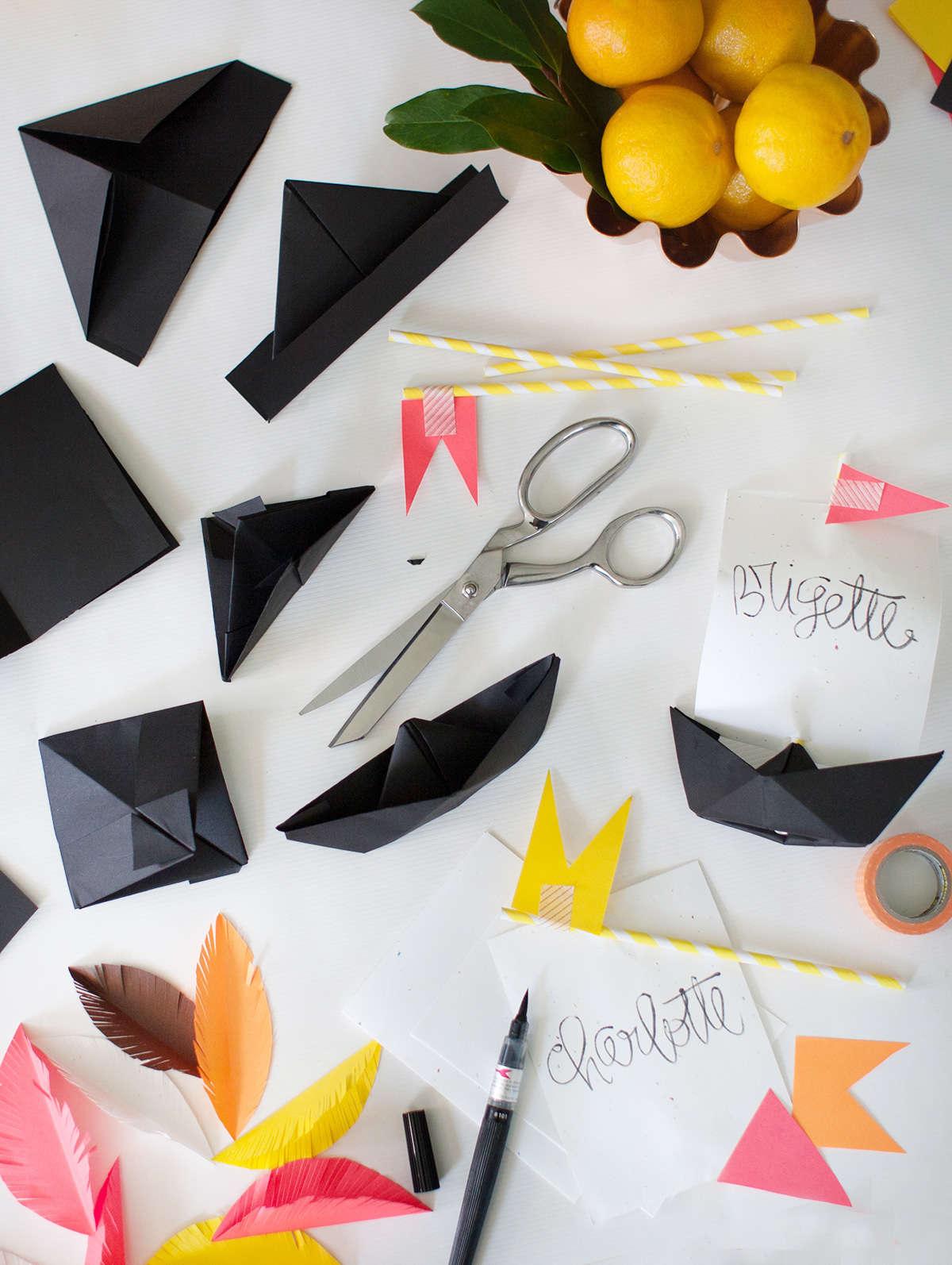 Diy thanksgiving paper decor - Diy Thanksgiving Placecards