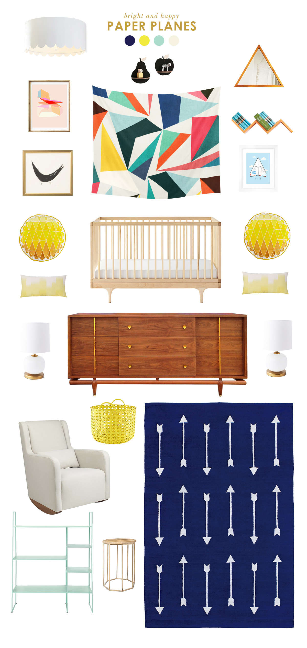 navy baby room inspiration