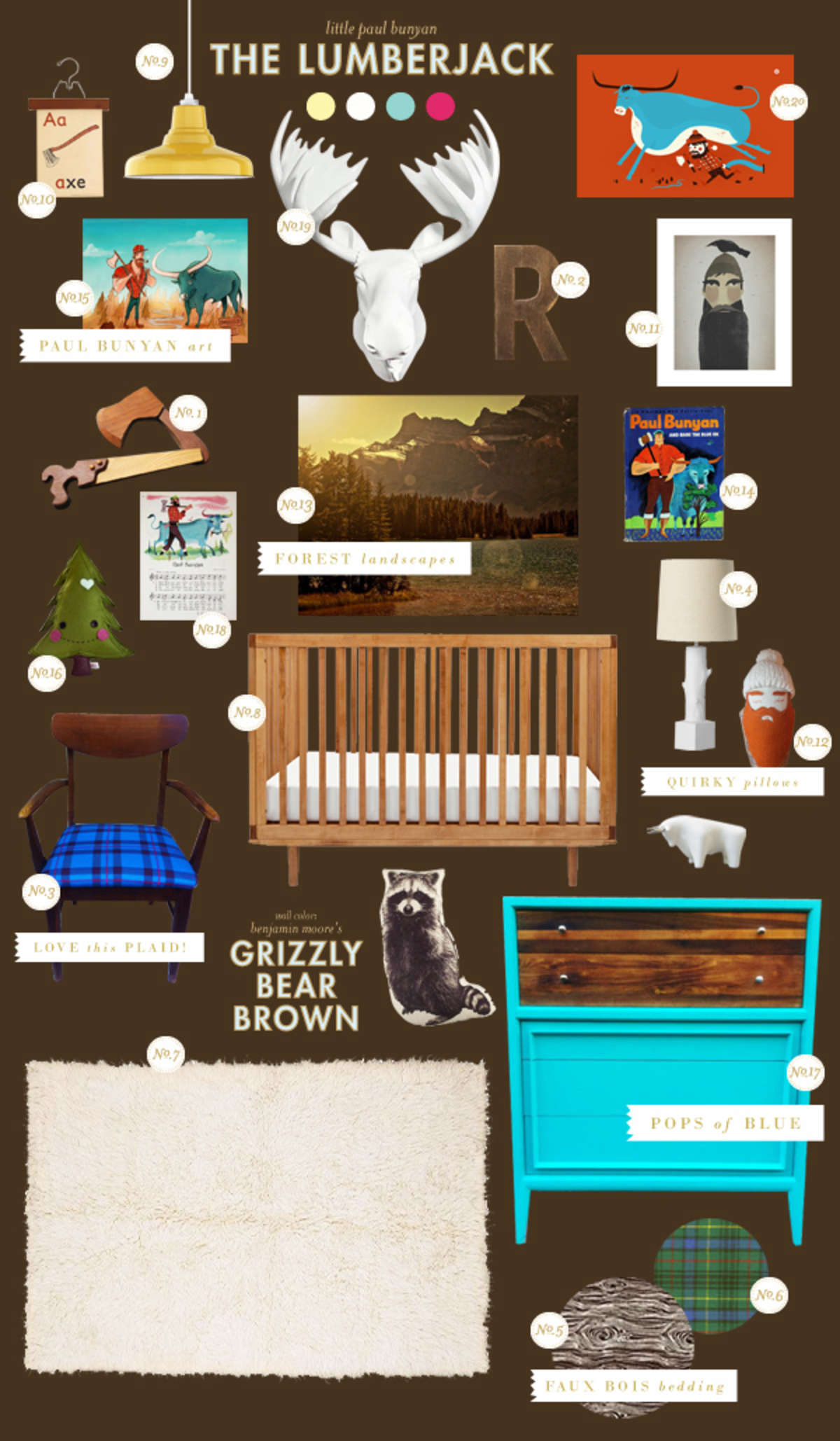 lumberjack baby room ideas