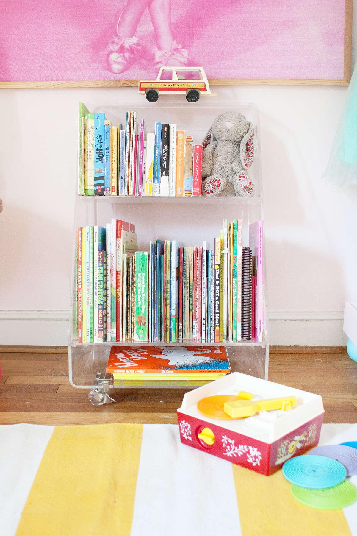 acrylic book cart