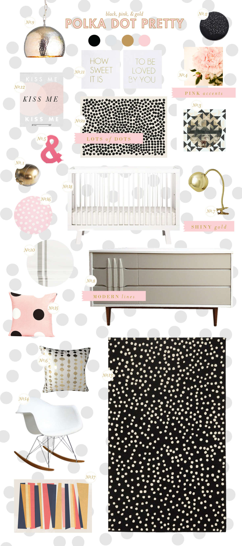 baby girl room ideas polka dots