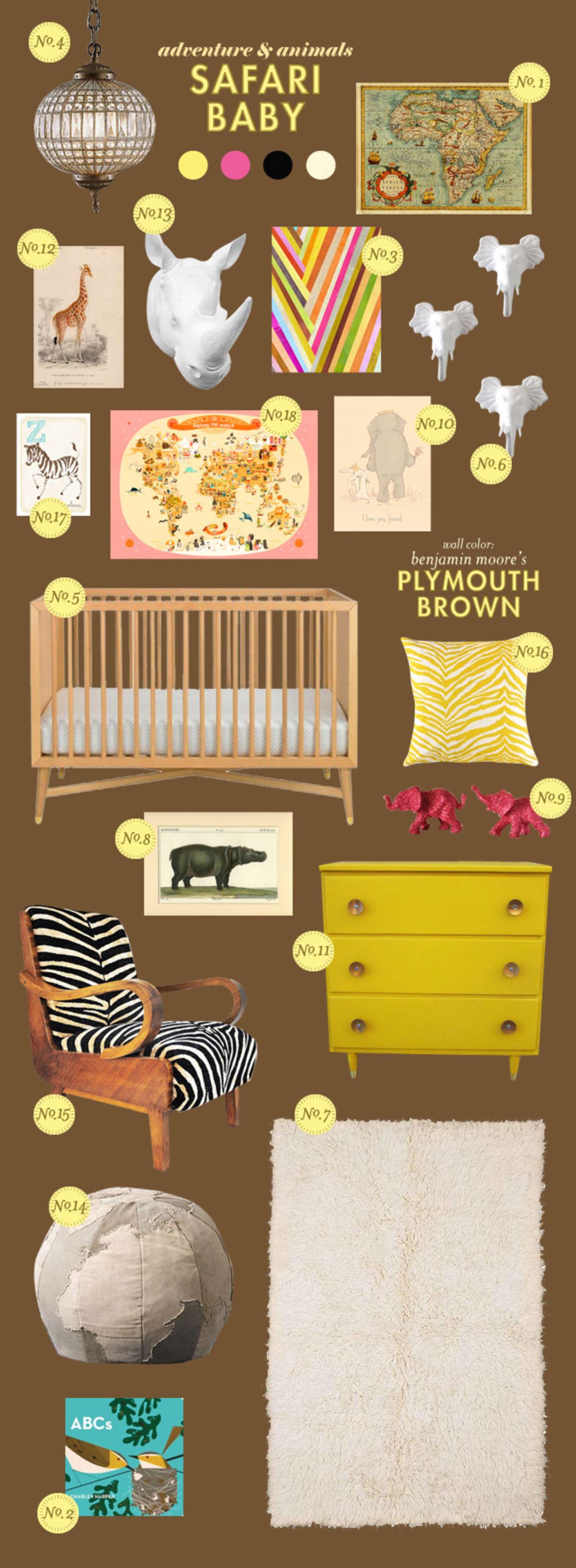 safari africa animals baby room ideas