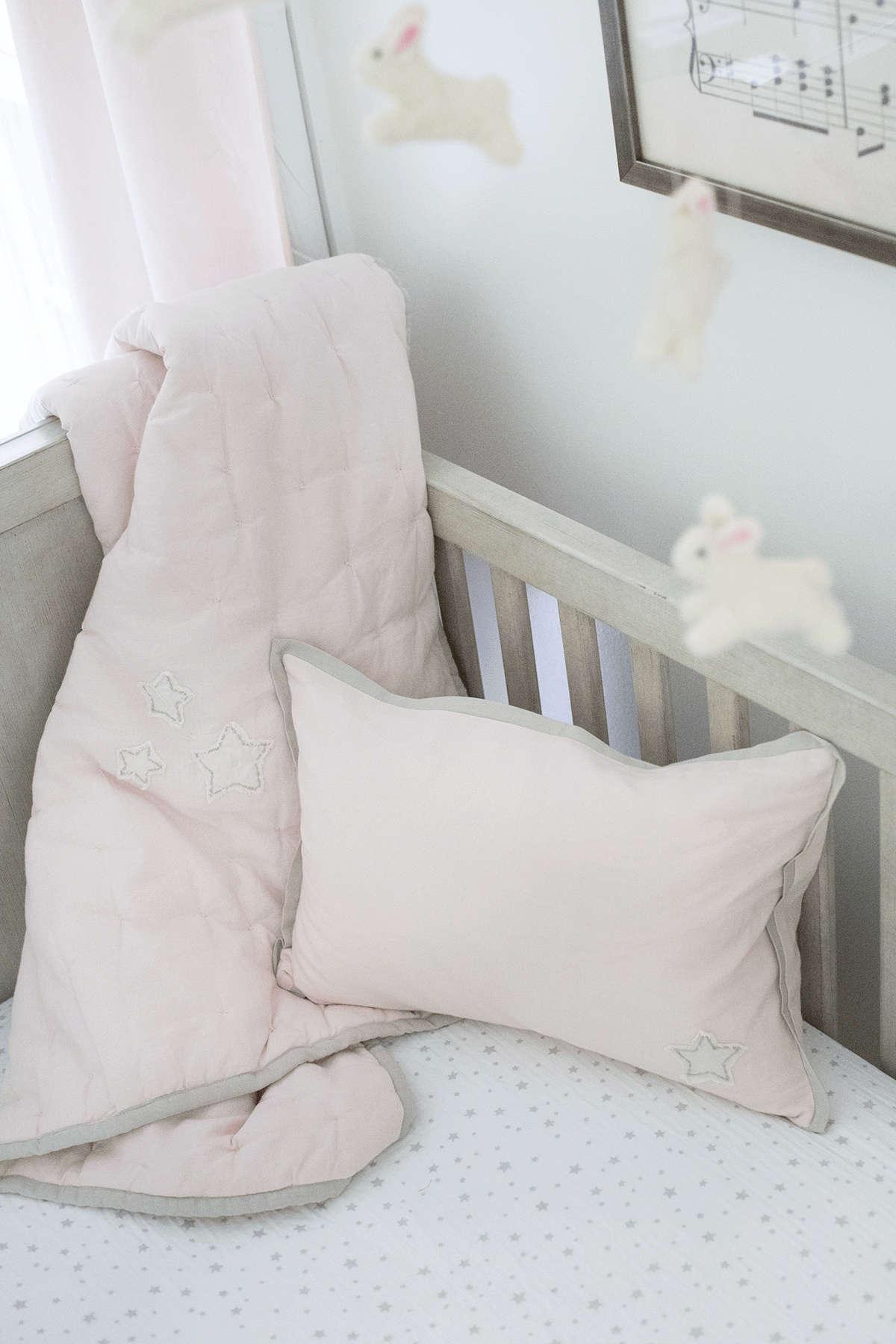 pastel pink baby nursery
