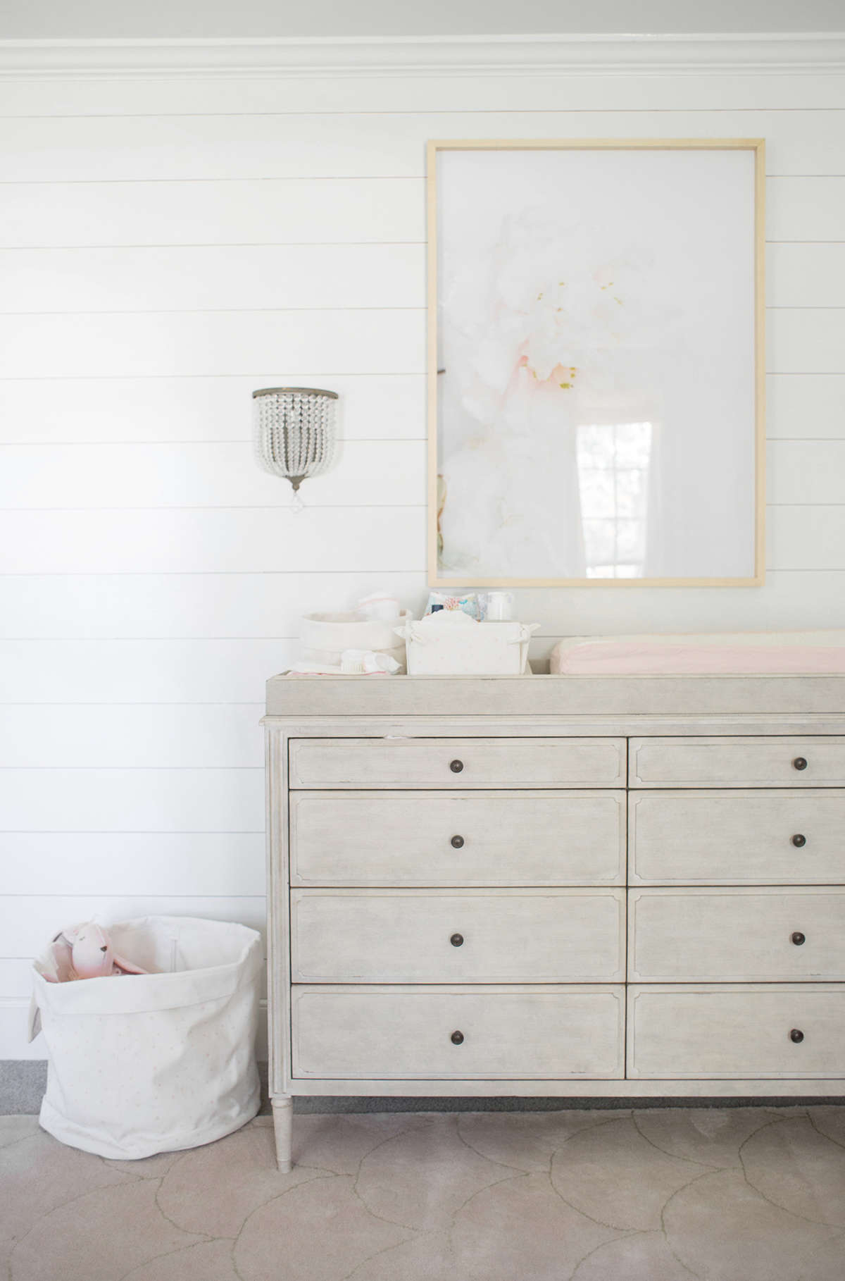 classic pink baby girl room