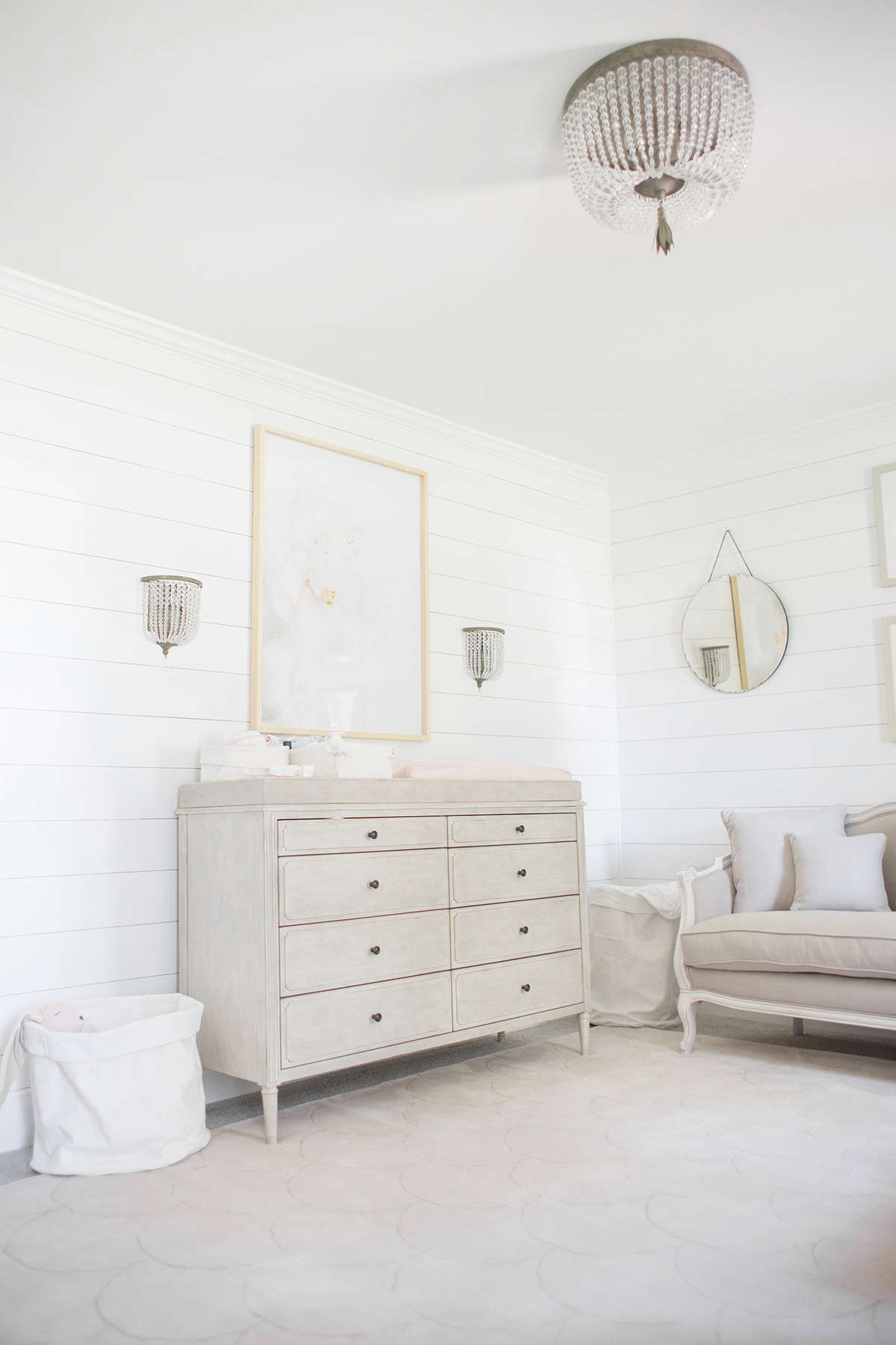 pink and gray baby nursery inspiration