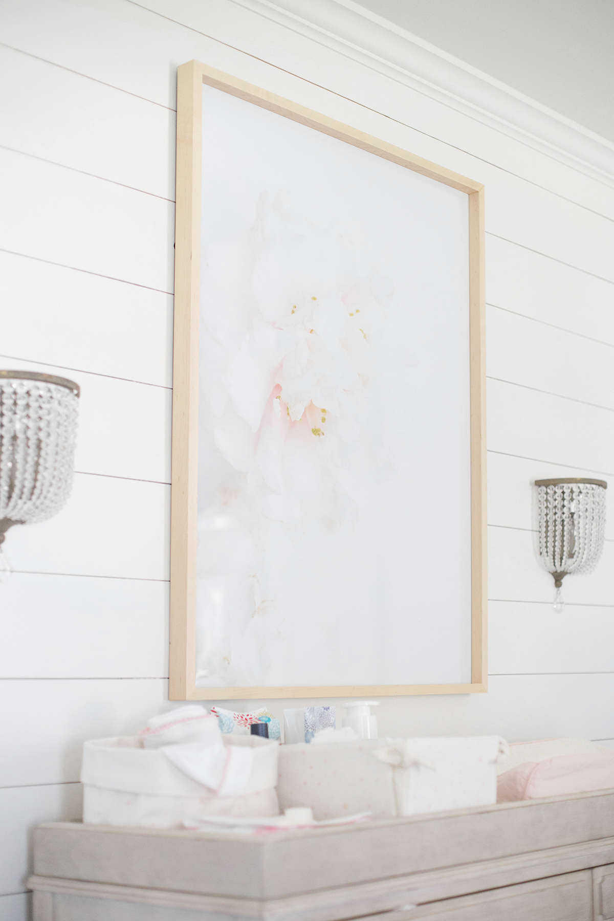 pink and gray baby nursery ideas