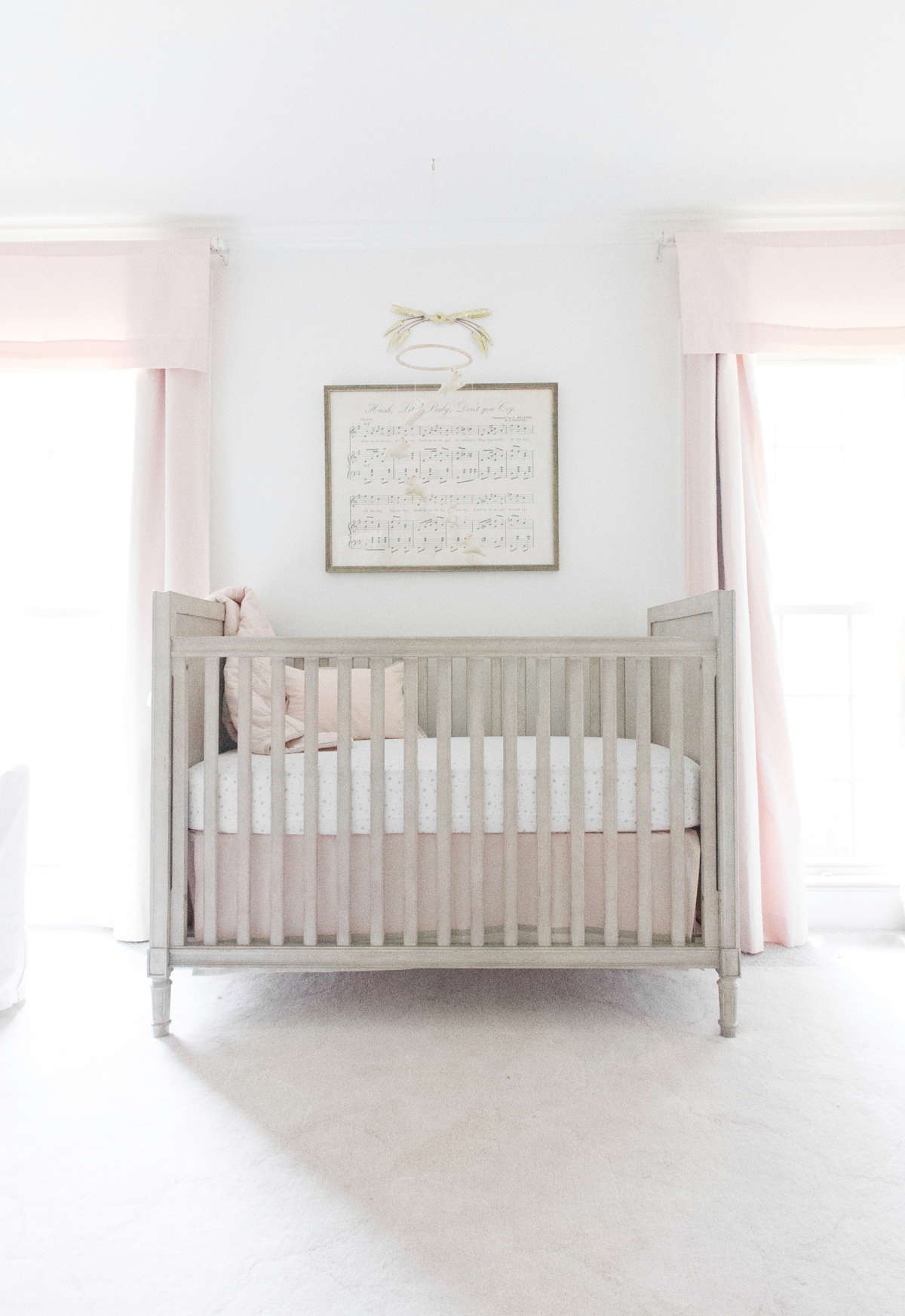 classic pink baby nursery inspiration