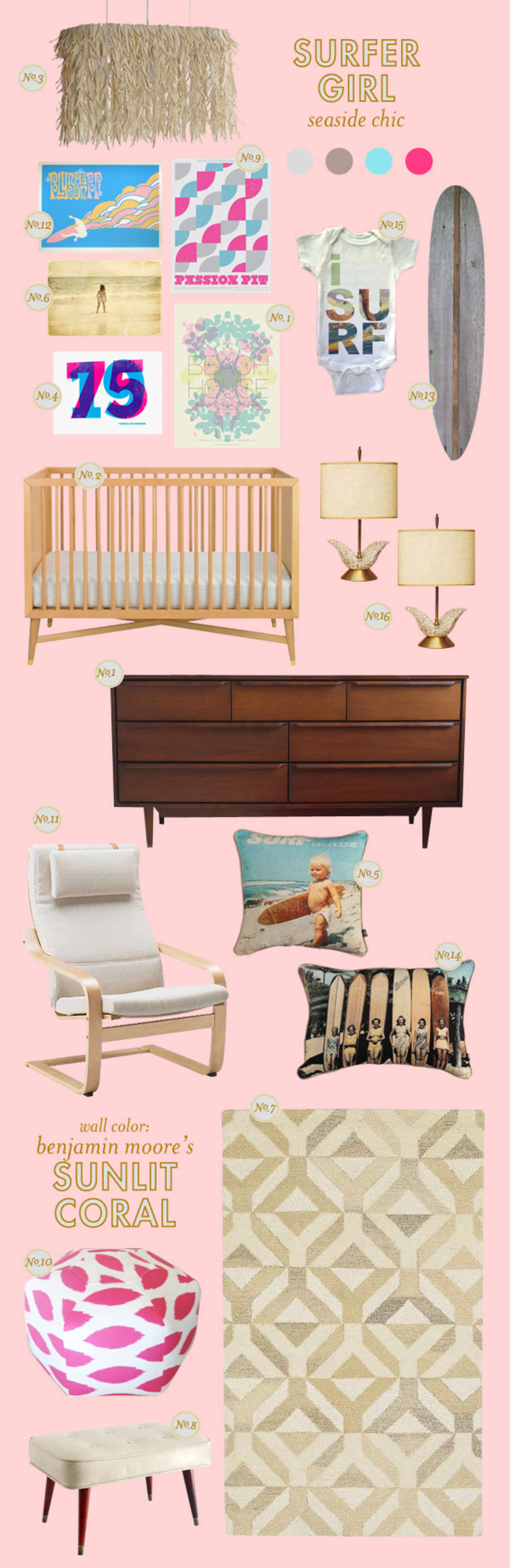 surfer girl nursery ideas