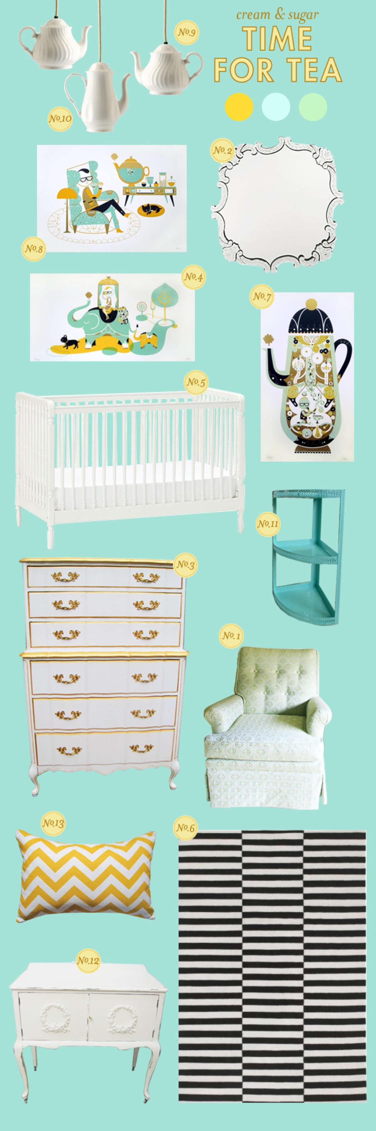 Baby Girl Nursery Inspiration Board